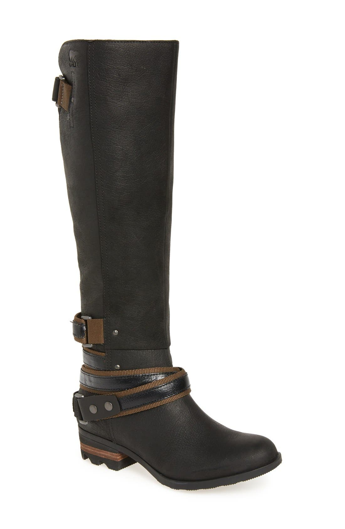 Lolla Water Resistant Tall Boot,                             Main thumbnail 1, color,                             010