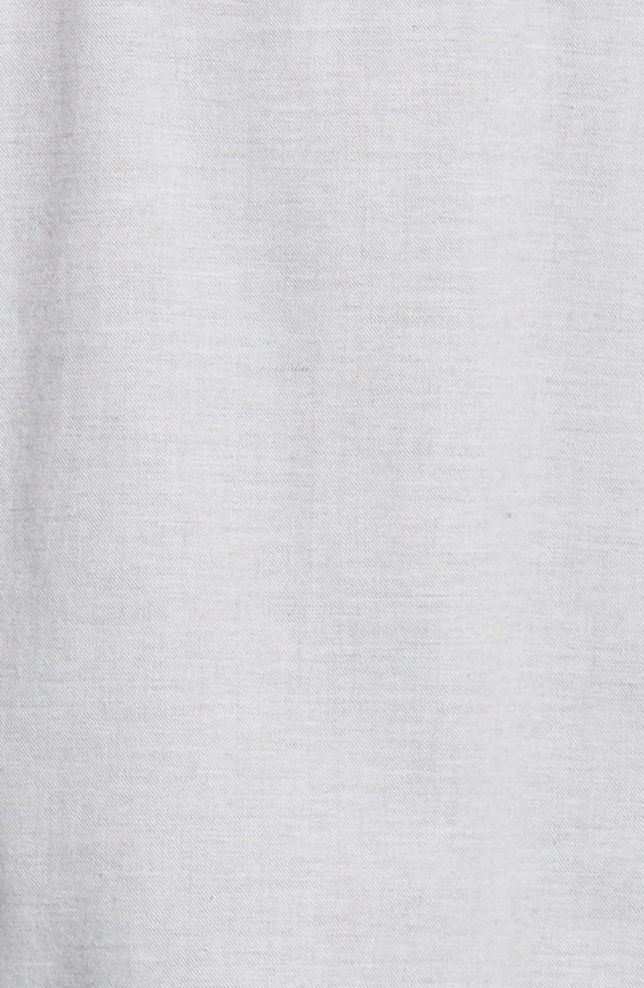Rick Regular Fit Solid Sport Shirt,                             Alternate thumbnail 6, color,                             GREY MELANGE