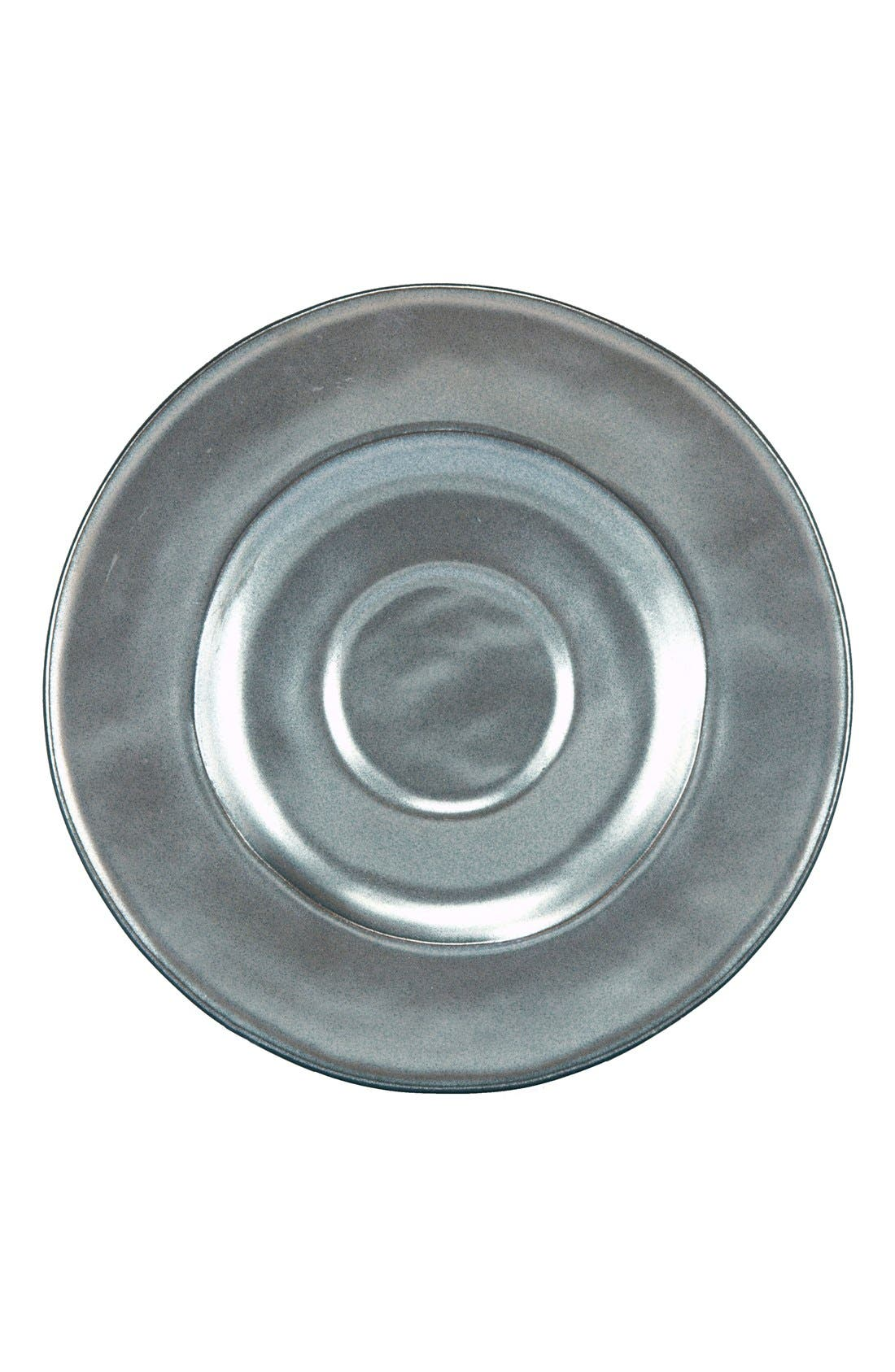 'Pewter' Stoneware Saucer,                             Main thumbnail 1, color,                             PEWTER