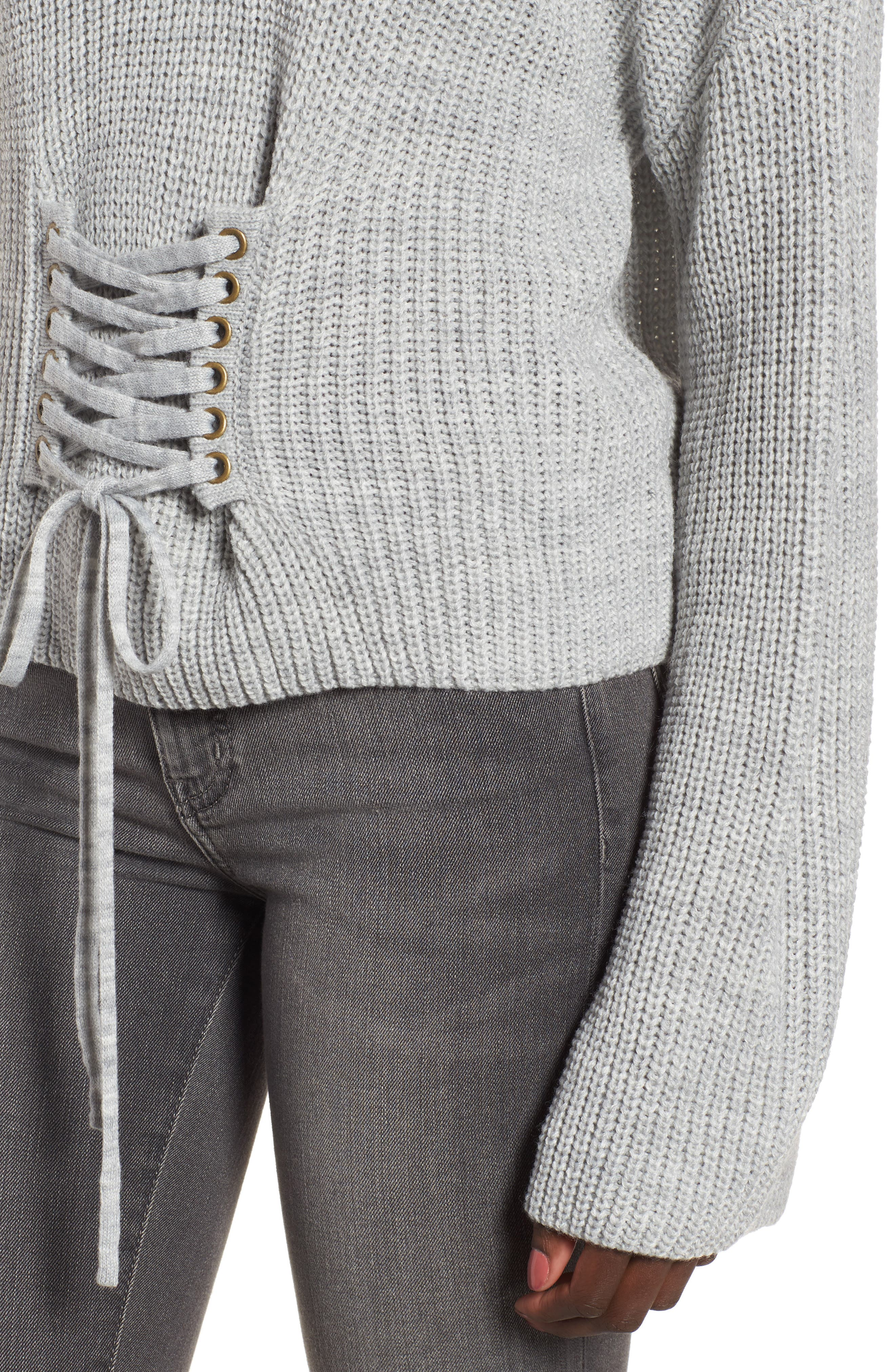 Corset Sweater,                             Alternate thumbnail 4, color,                             020