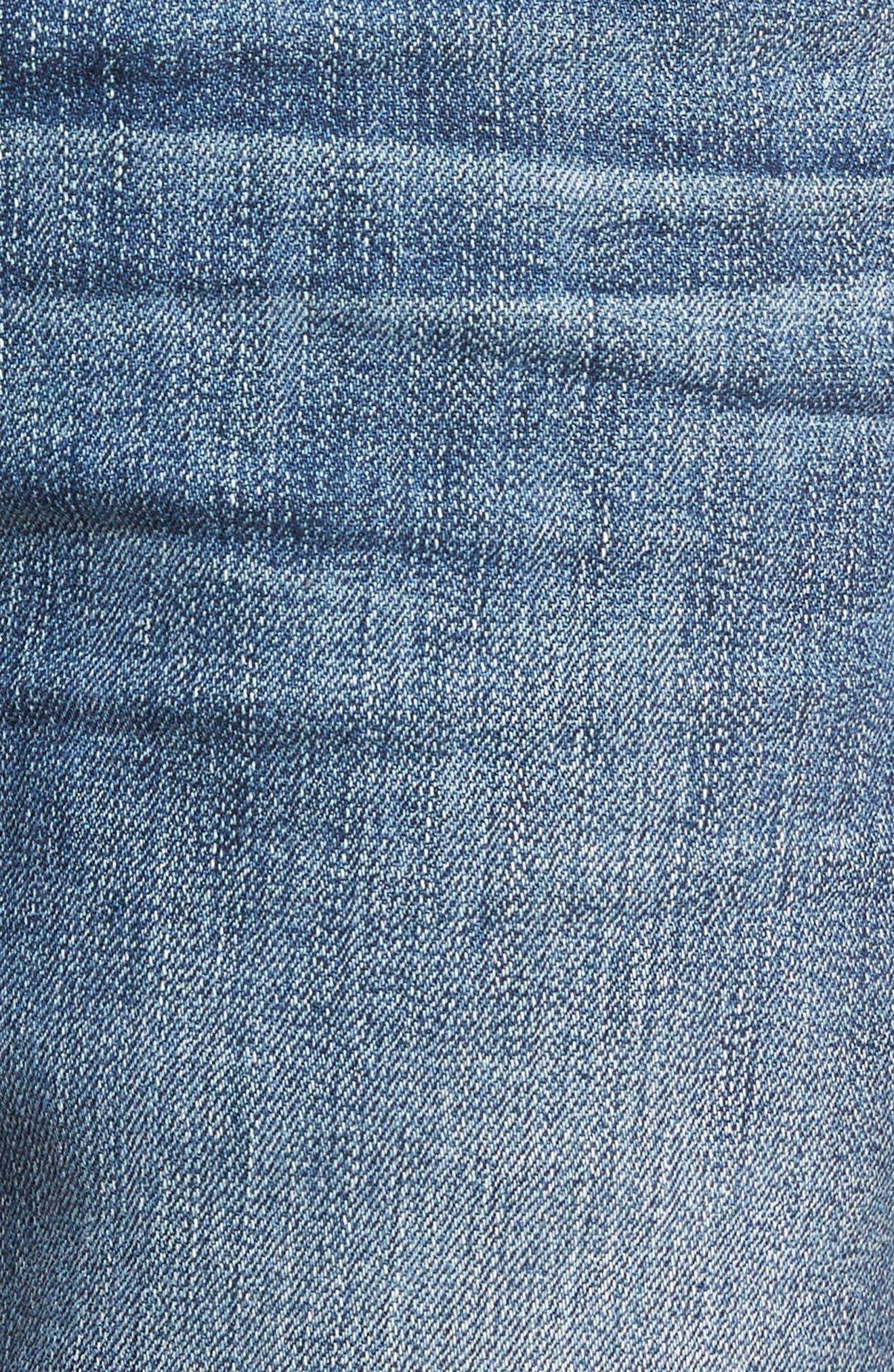 Normandie Straight Leg Jeans,                             Alternate thumbnail 5, color,                             GIBBS