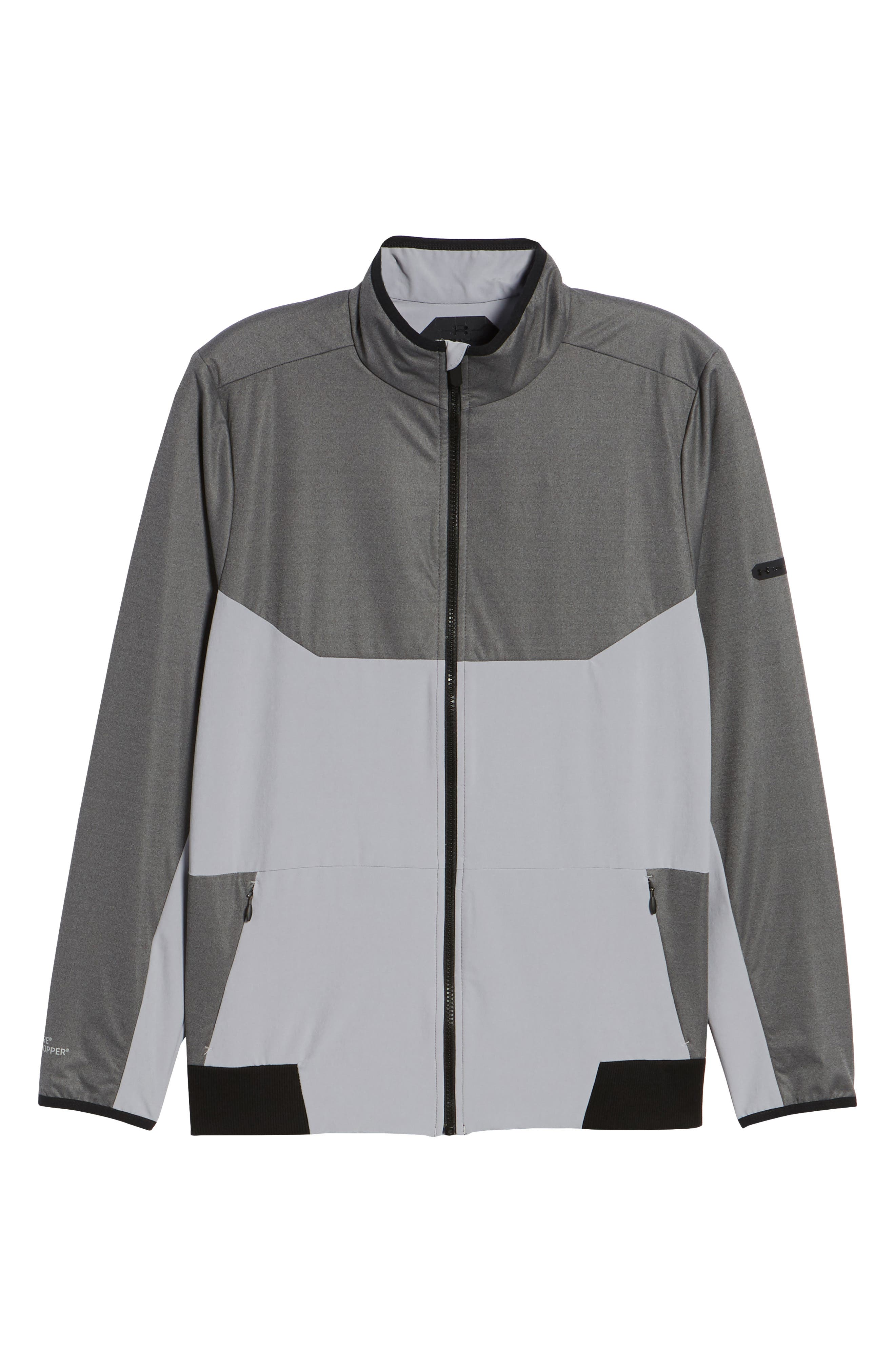 Gore<sup>®</sup> Windstopper<sup>®</sup> Full Zip Jacket,                             Alternate thumbnail 5, color,                             CHARCOAL / OVERCAST