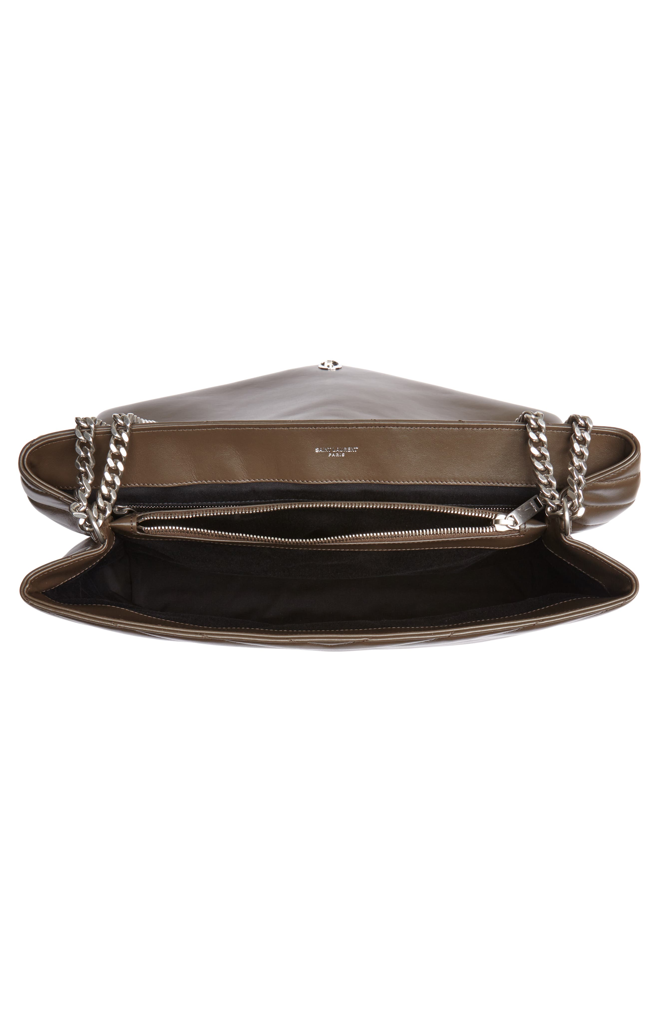 Large Loulou Matelassé Leather Shoulder Bag,                             Alternate thumbnail 4, color,                             FAGGIO/ FAGGIO
