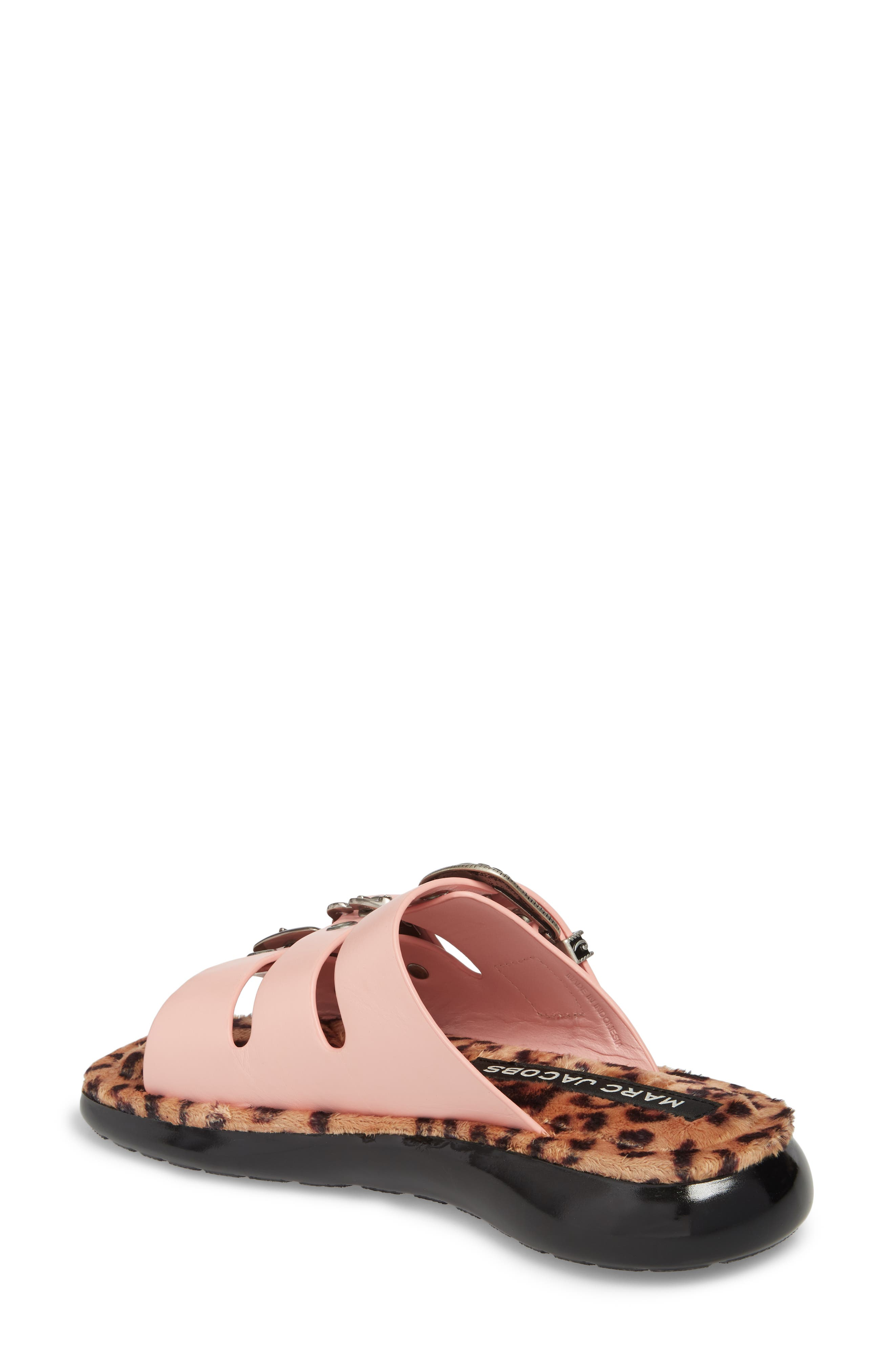 Emerson Faux Fur Sport Sandal,                             Alternate thumbnail 2, color,                             LIGHT PINK MULTI