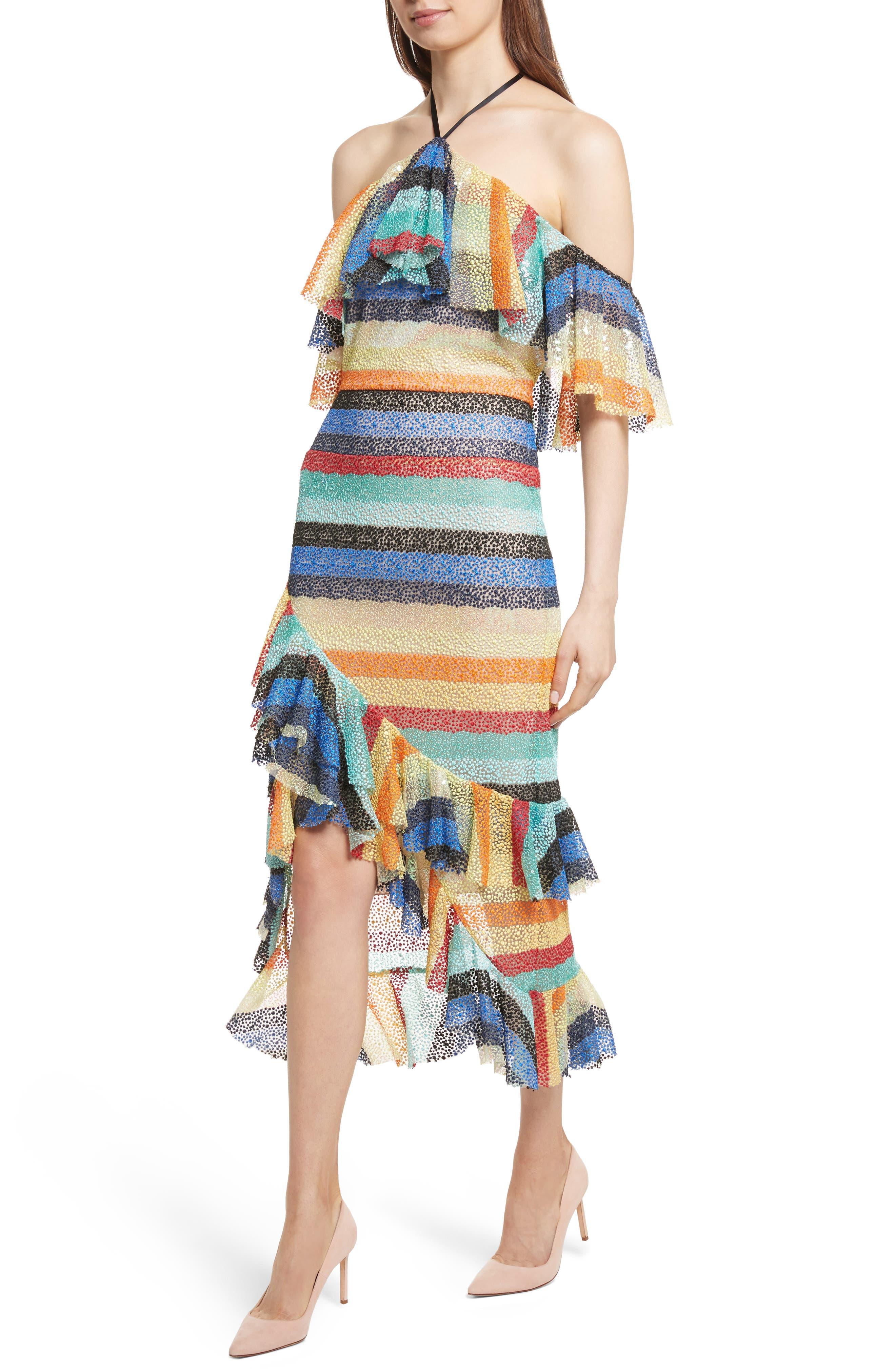 Annabeth Off the Shoulder Midi Dress,                             Alternate thumbnail 4, color,                             006