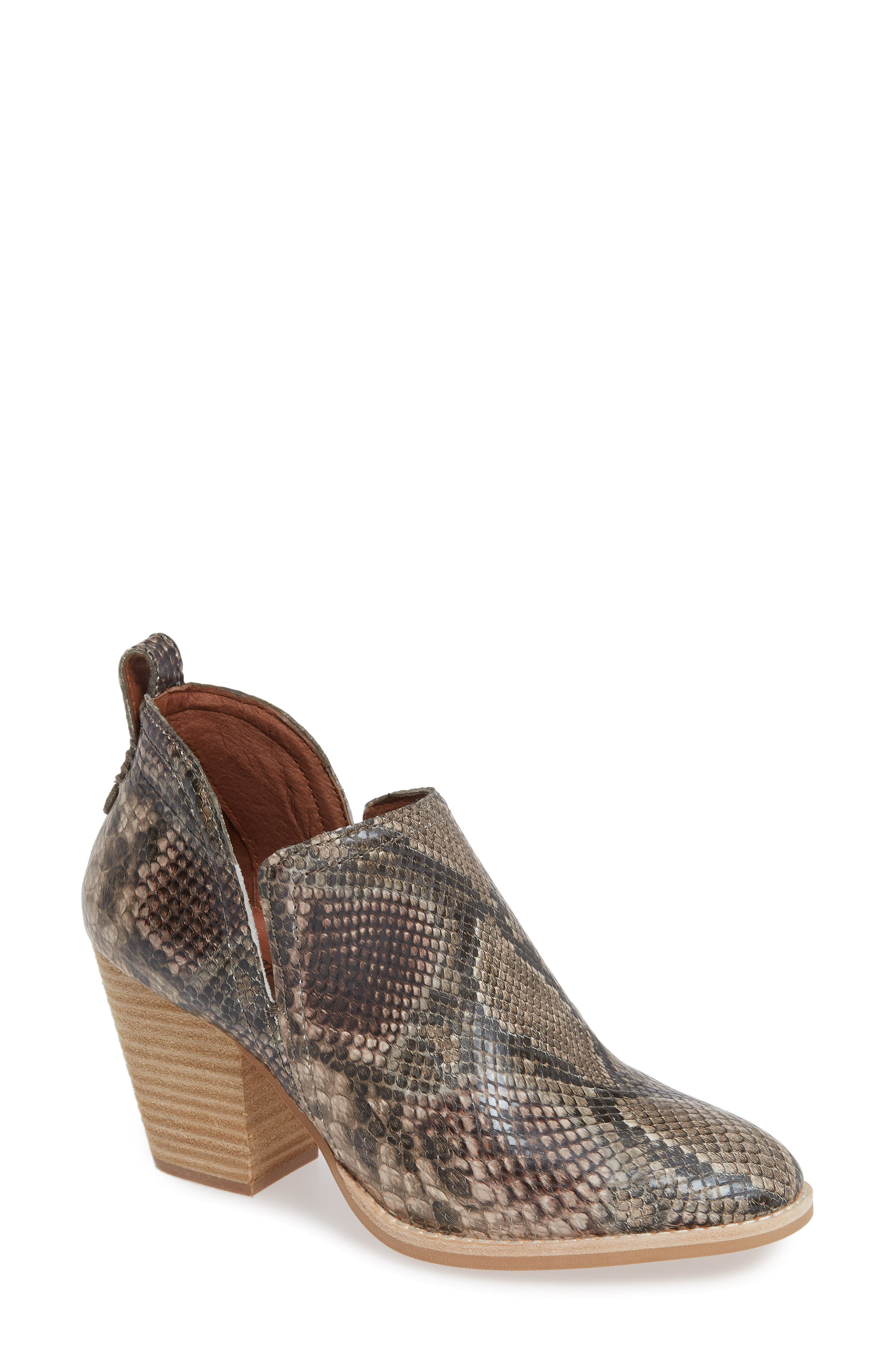 Rosalee Bootie,                         Main,                         color, TAUPE SNAKE PRINT MULTI