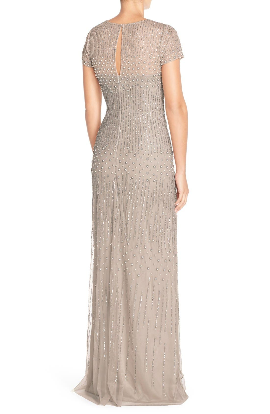 Embellished Mesh Gown,                             Alternate thumbnail 4, color,                             220