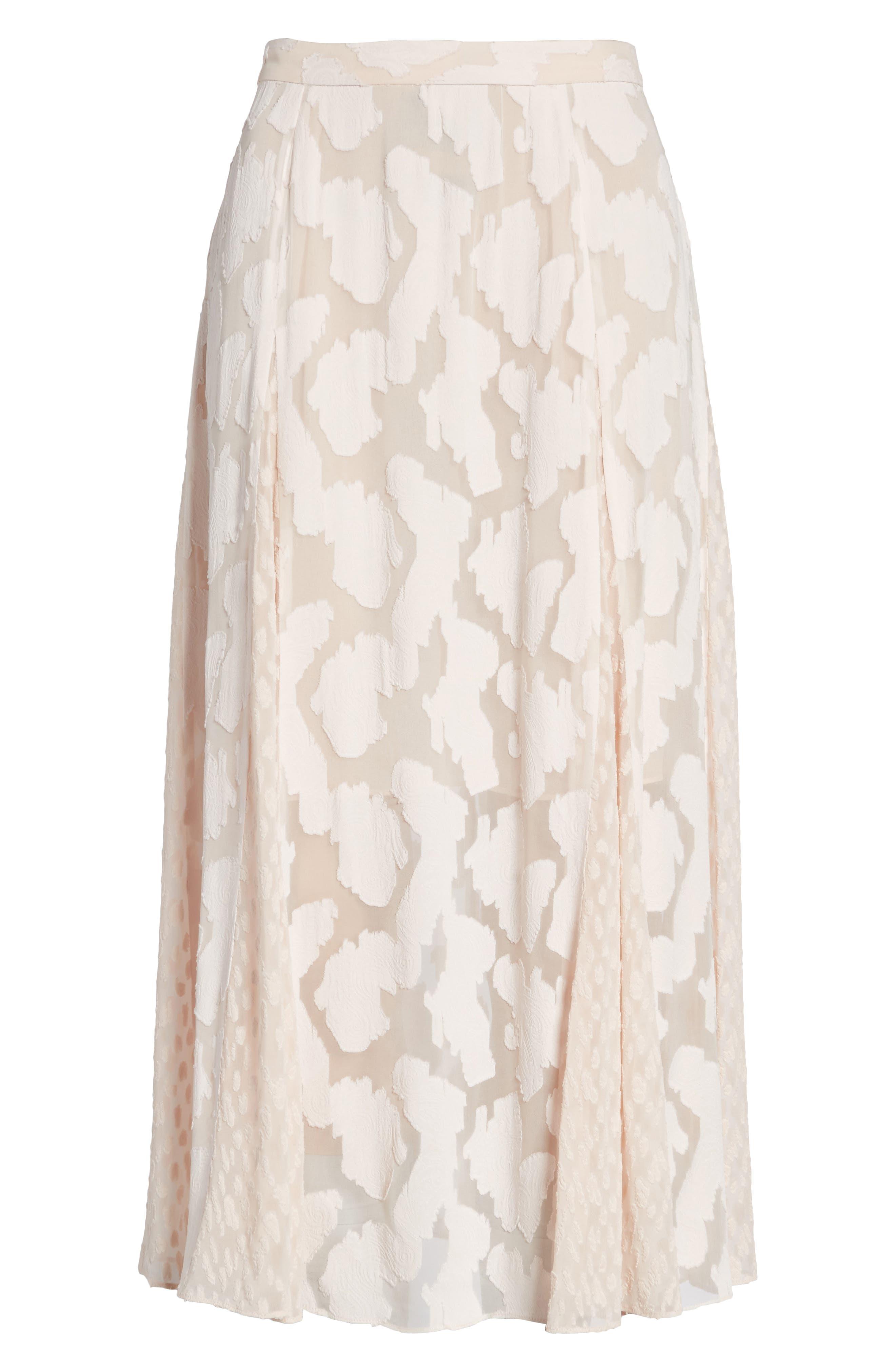 Clip Jacquard Godet Skirt,                             Alternate thumbnail 12, color,