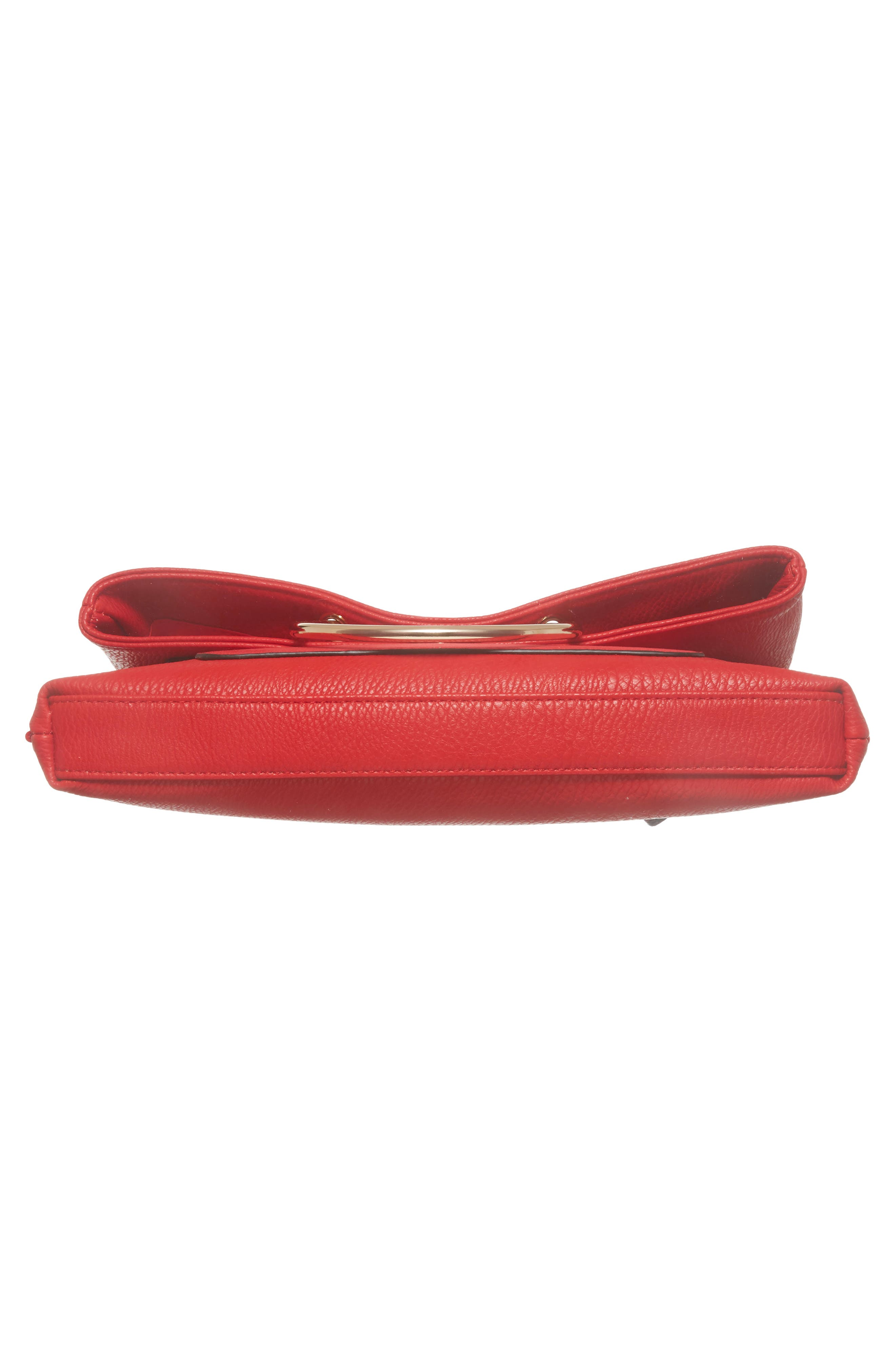 Foldover Ring Clutch,                             Alternate thumbnail 6, color,                             RED