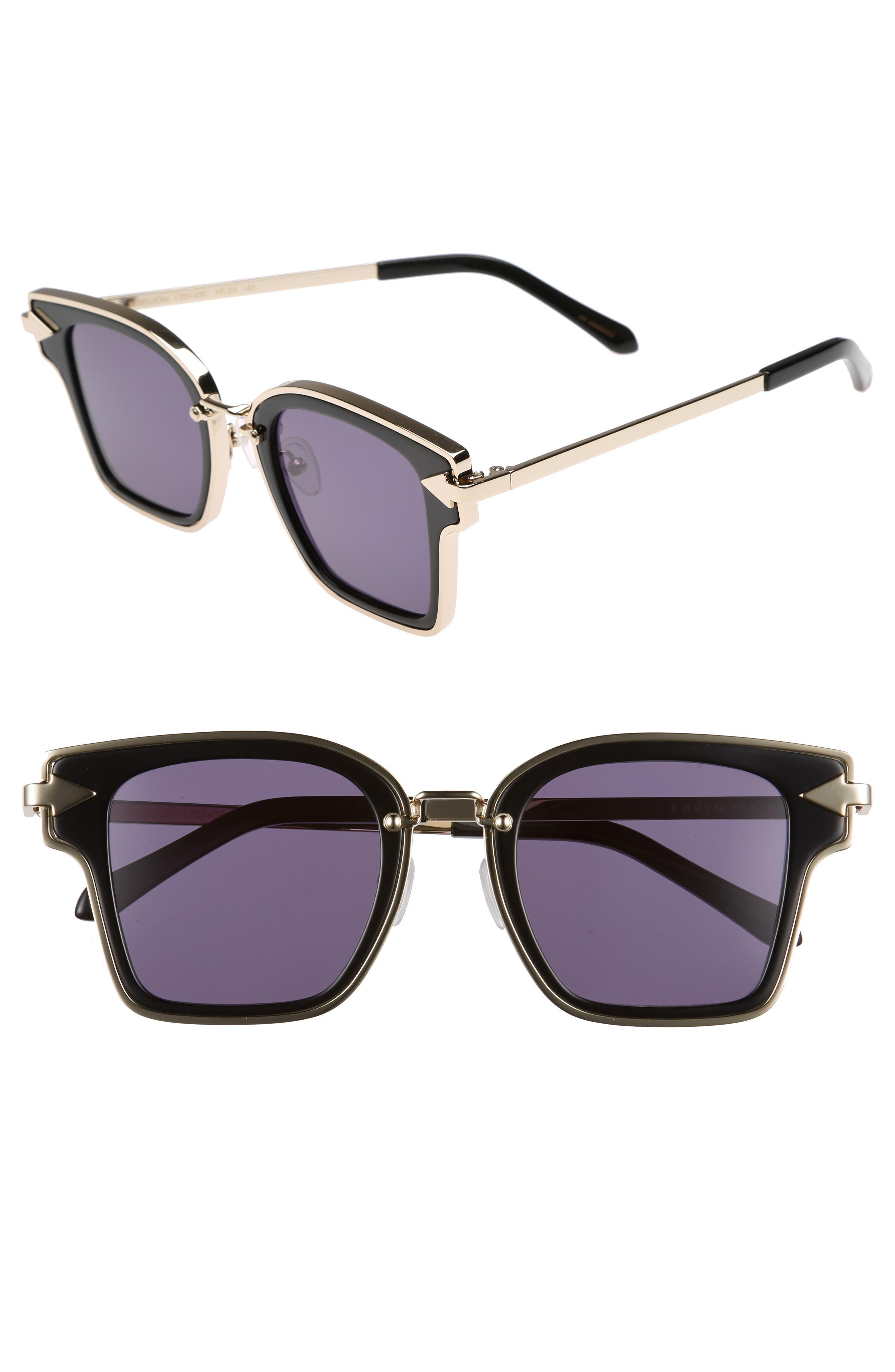Rebellion 49mm Sunglasses,                             Main thumbnail 1, color,                             001