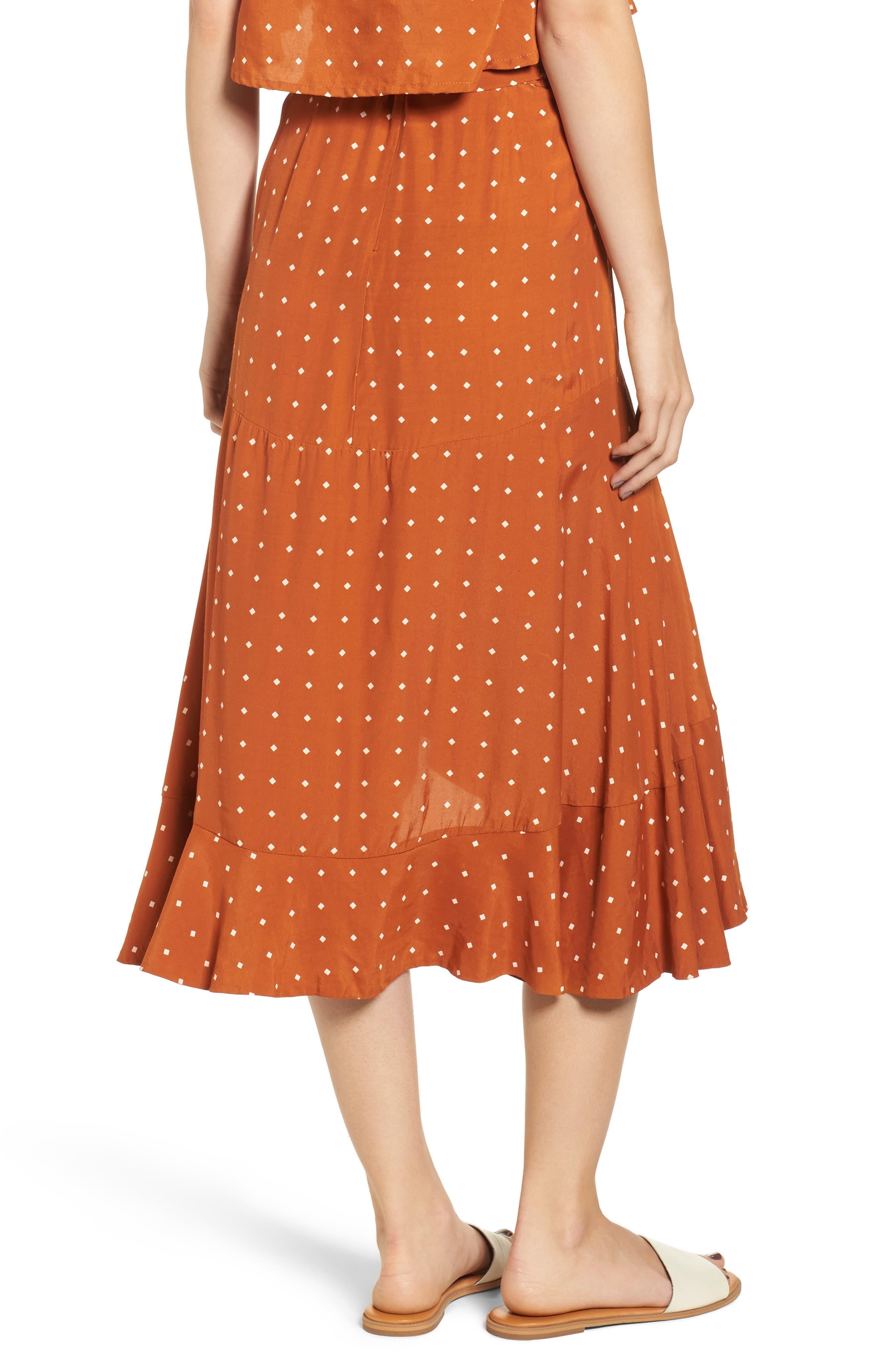 FAITHFULL THE BRAND,                             Kamares Polka Dot Midi Skirt,                             Alternate thumbnail 2, color,                             700