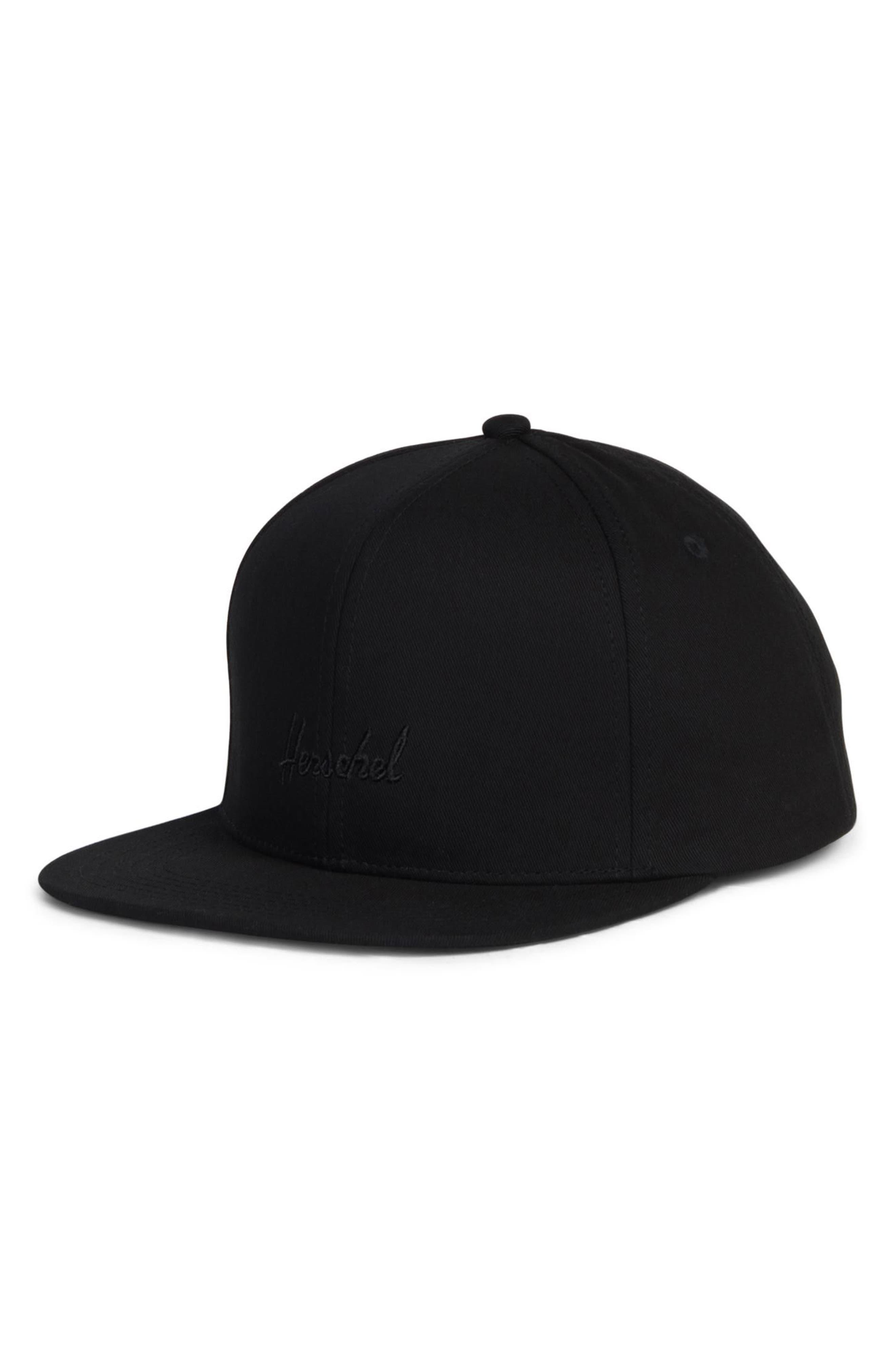 Austin Snapback Baseball Cap,                         Main,                         color, BLACK