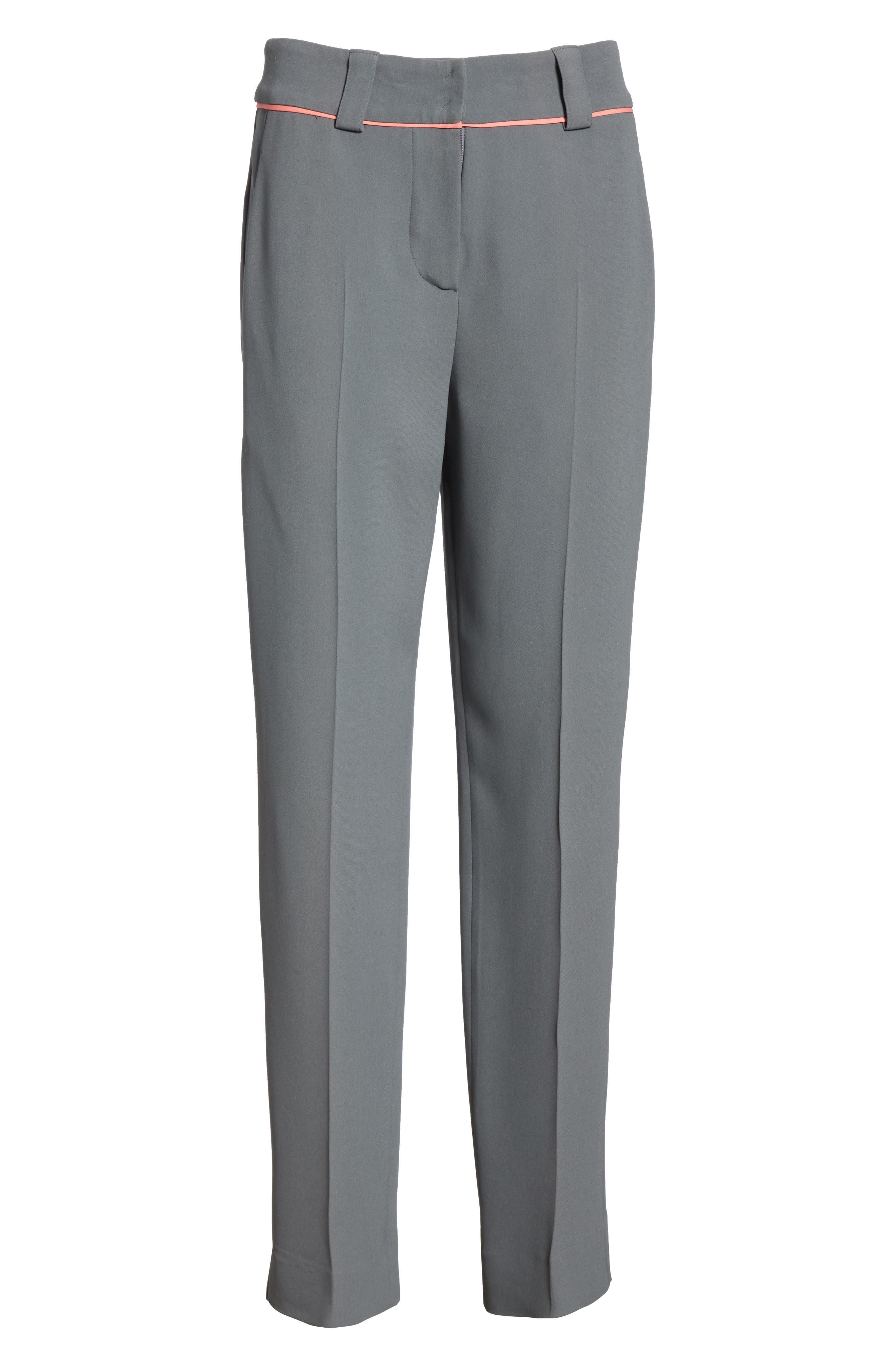 Piped Ankle Pants,                             Alternate thumbnail 6, color,                             ROCCIA