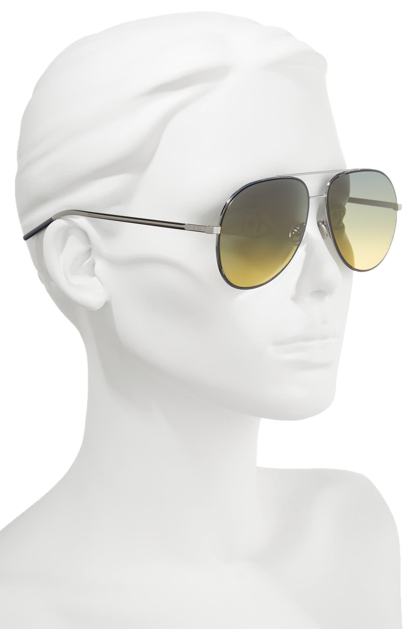 Astrals 59mm Aviator Sunglasses,                             Alternate thumbnail 6, color,
