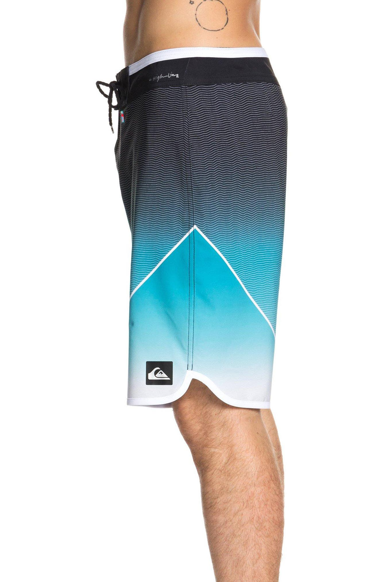 Highline New Wave Board Shorts,                             Alternate thumbnail 3, color,                             TYPHOON