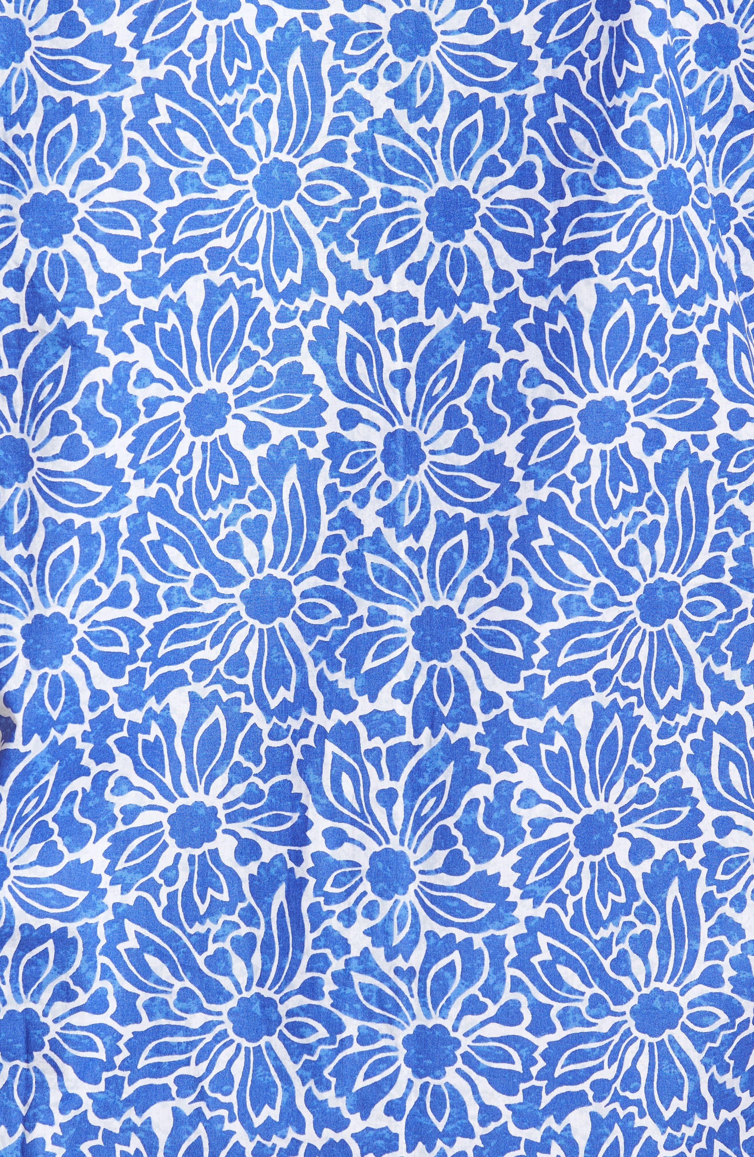 Classic Fit Floral Sport Shirt,                             Alternate thumbnail 5, color,                             419
