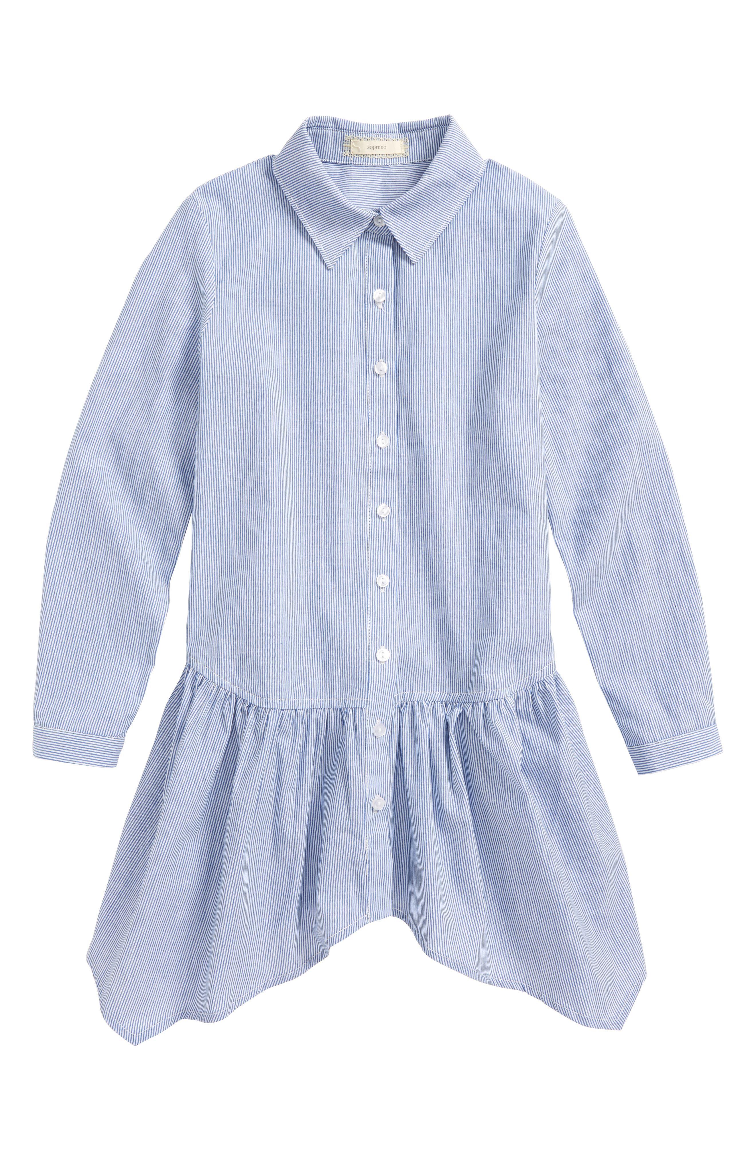 Stripe Peplum Shirt,                         Main,                         color, 401