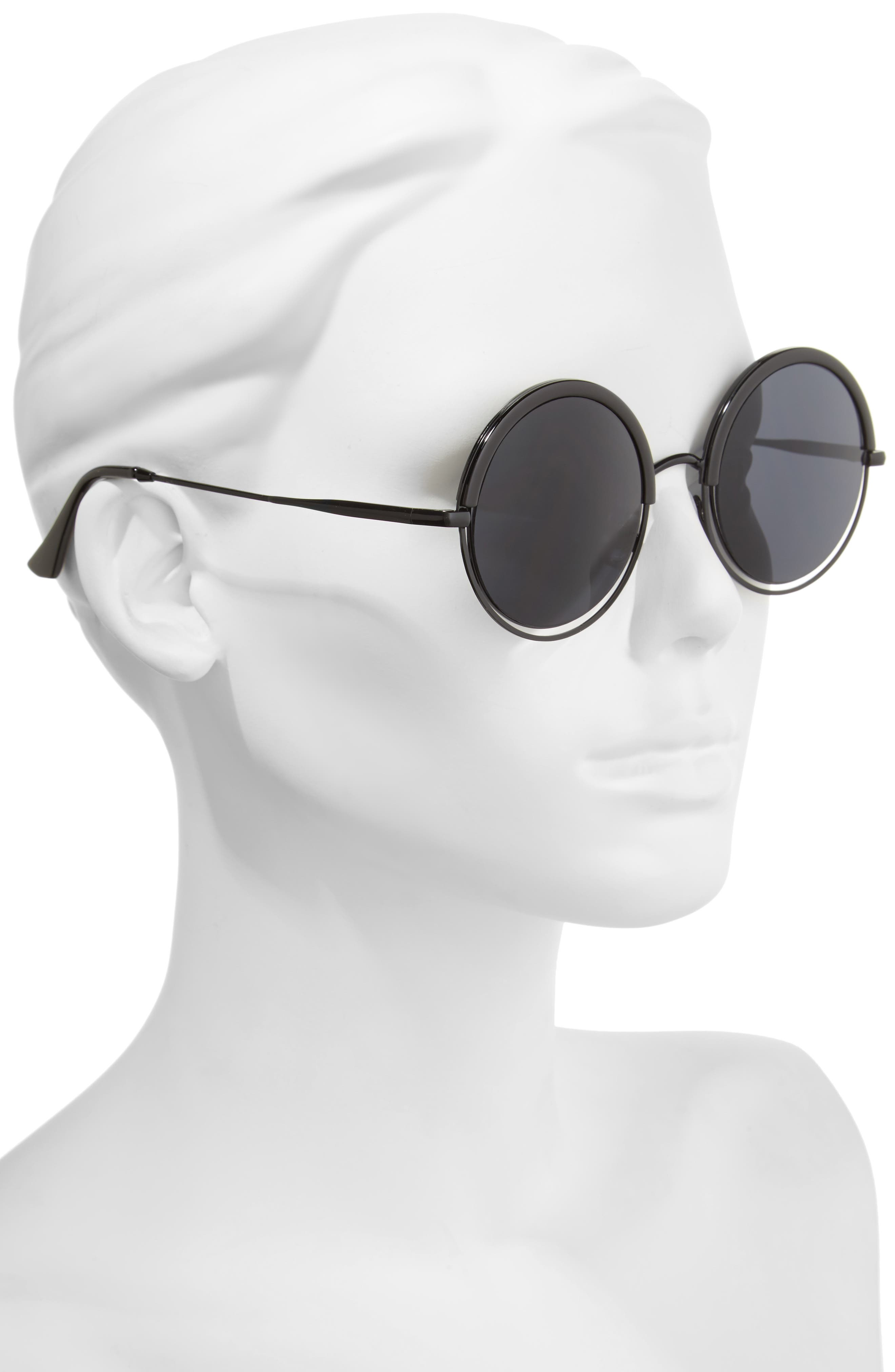 A.J. MORGAN,                             Pancakes 52mm Gradient Lens Round Sunglasses,                             Alternate thumbnail 2, color,                             001