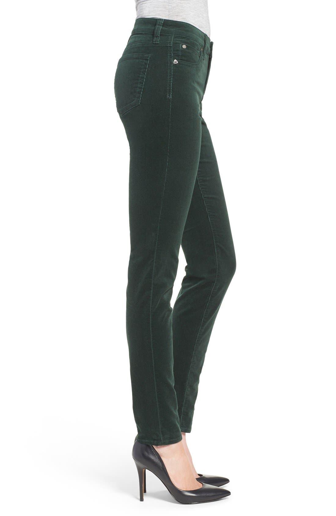 'Diana' Stretch Corduroy Skinny Pants,                             Alternate thumbnail 182, color,