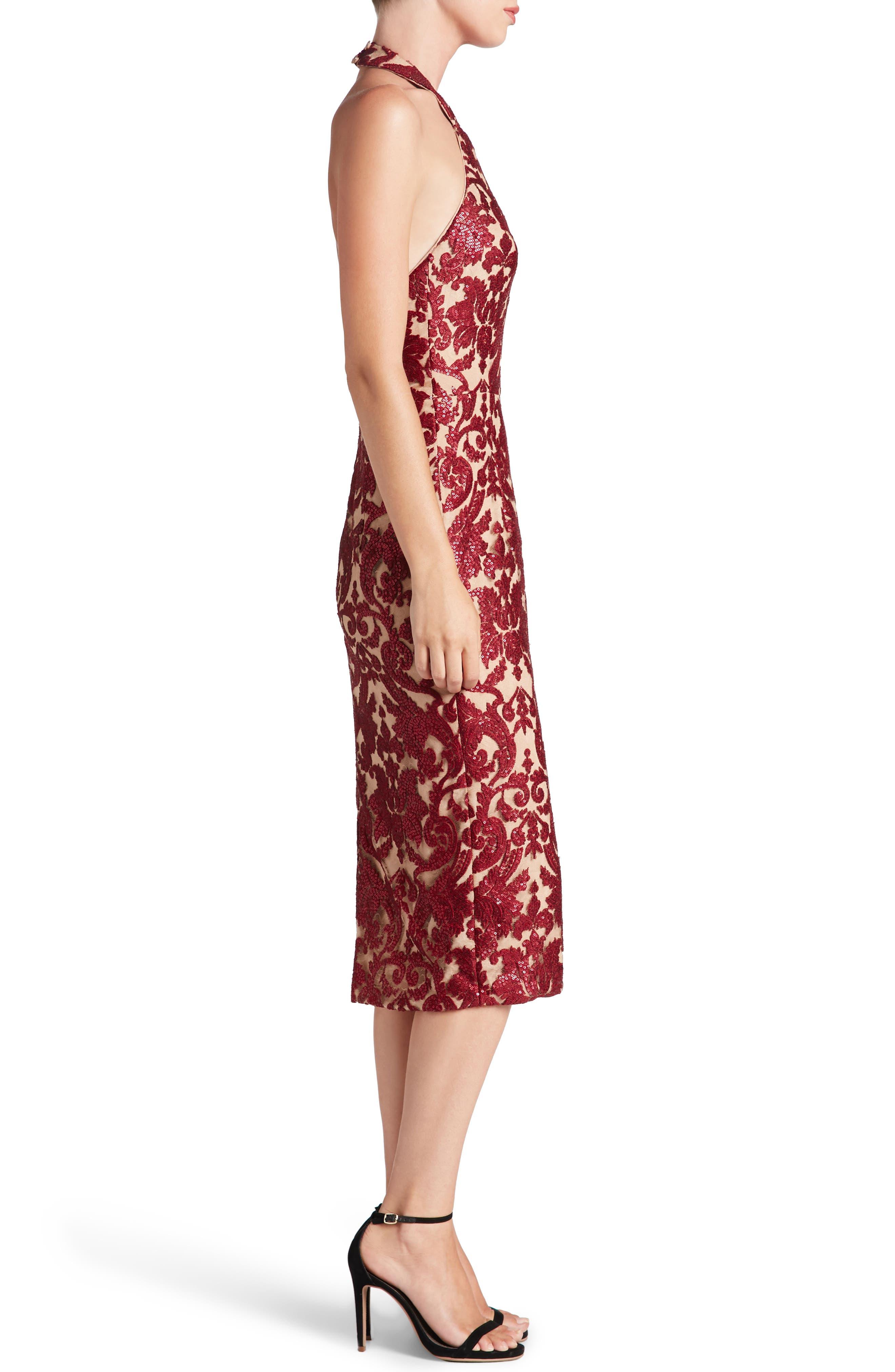 Cassie Sequin Midi Dress,                             Alternate thumbnail 19, color,