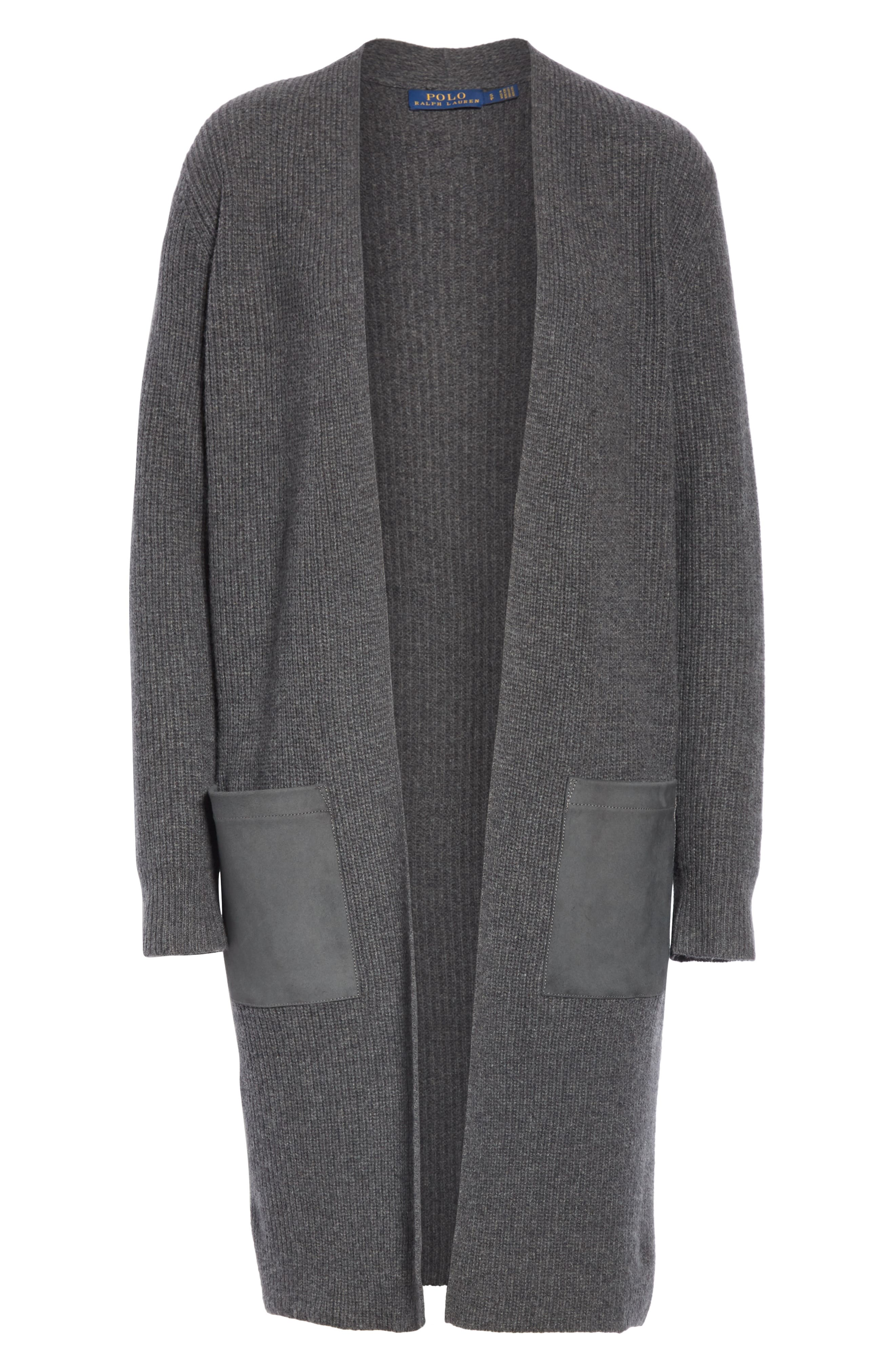 Long Wool & Cashmere Sweater,                             Alternate thumbnail 2, color,                             020