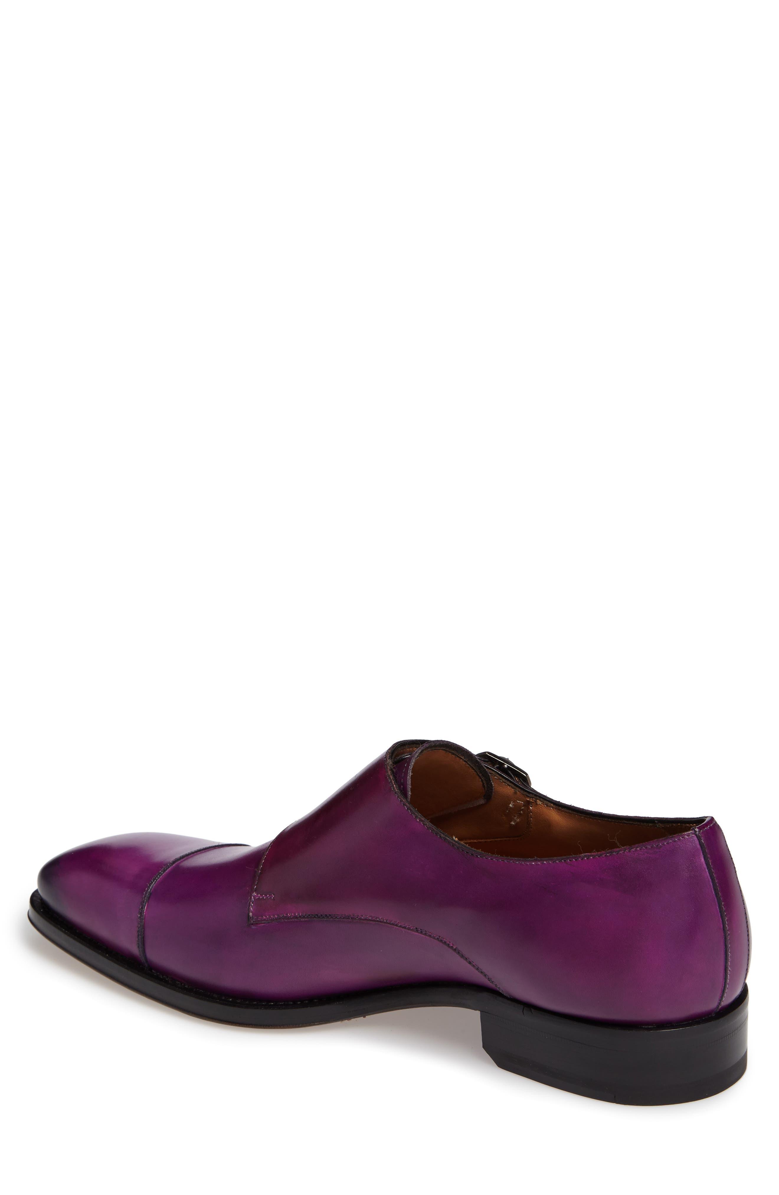 Cajal Double Monk Strap Cap Toe Shoe,                             Alternate thumbnail 7, color,