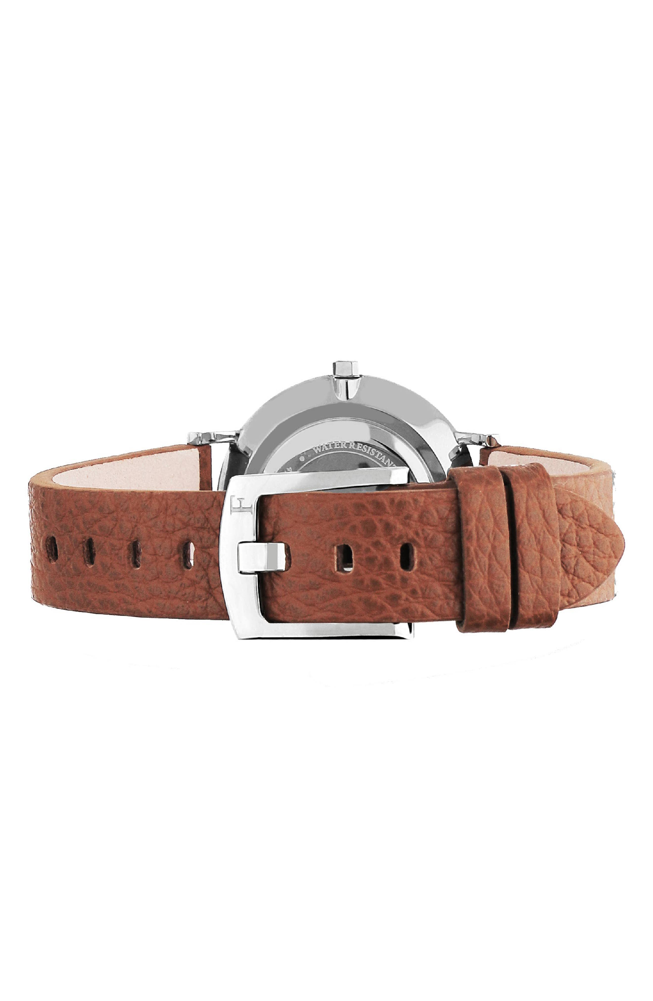 Giada Leather Strap Watch, 33mm,                             Alternate thumbnail 2, color,                             200