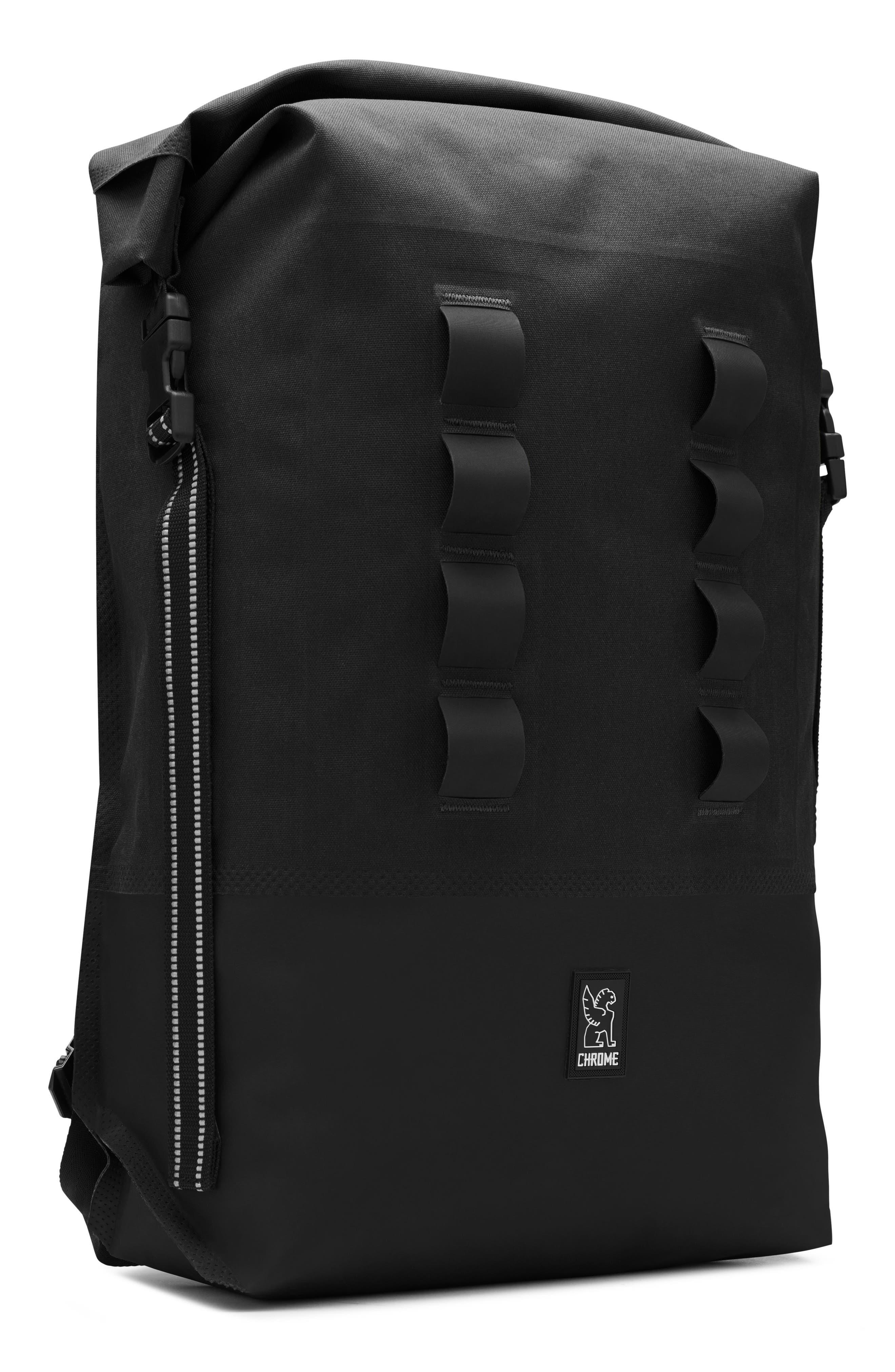 Urban Ex Rolltop Waterproof Backpack,                             Alternate thumbnail 10, color,                             BLACK/ BLACK