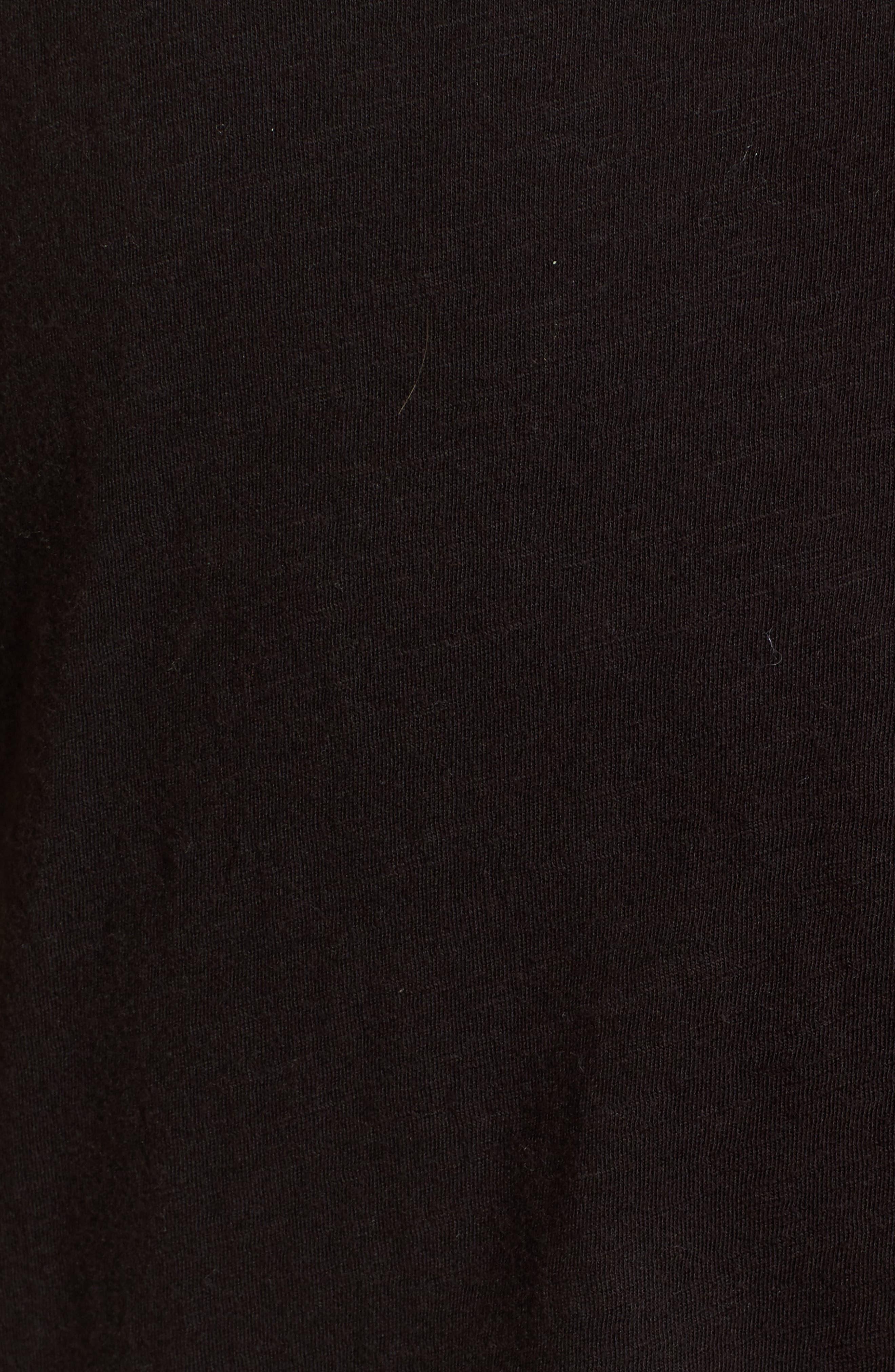 Janis Joplin Lace-Up Tee,                             Alternate thumbnail 5, color,                             001