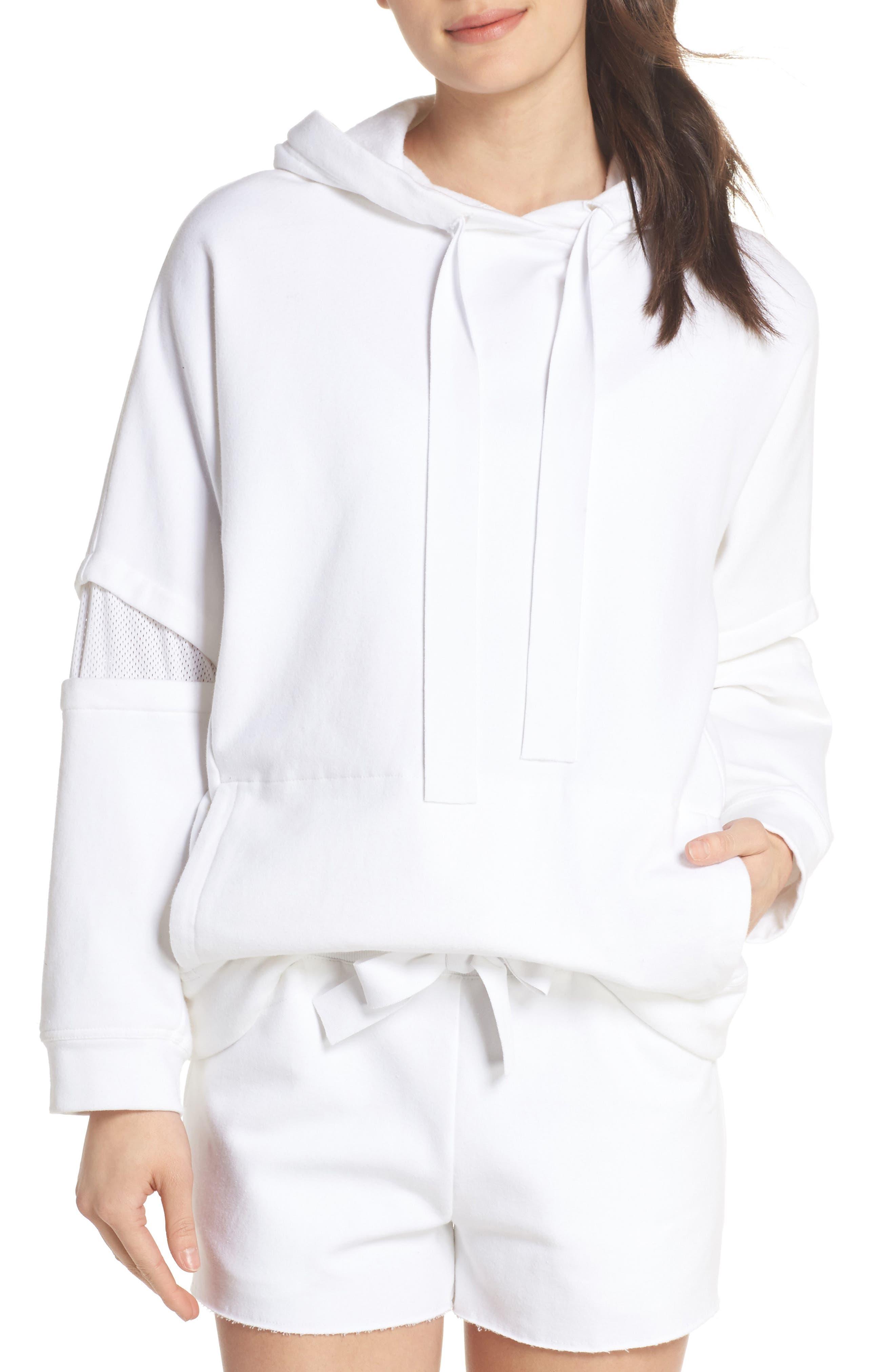 Notch Hoodie Sweatshirt,                         Main,                         color, WHITE