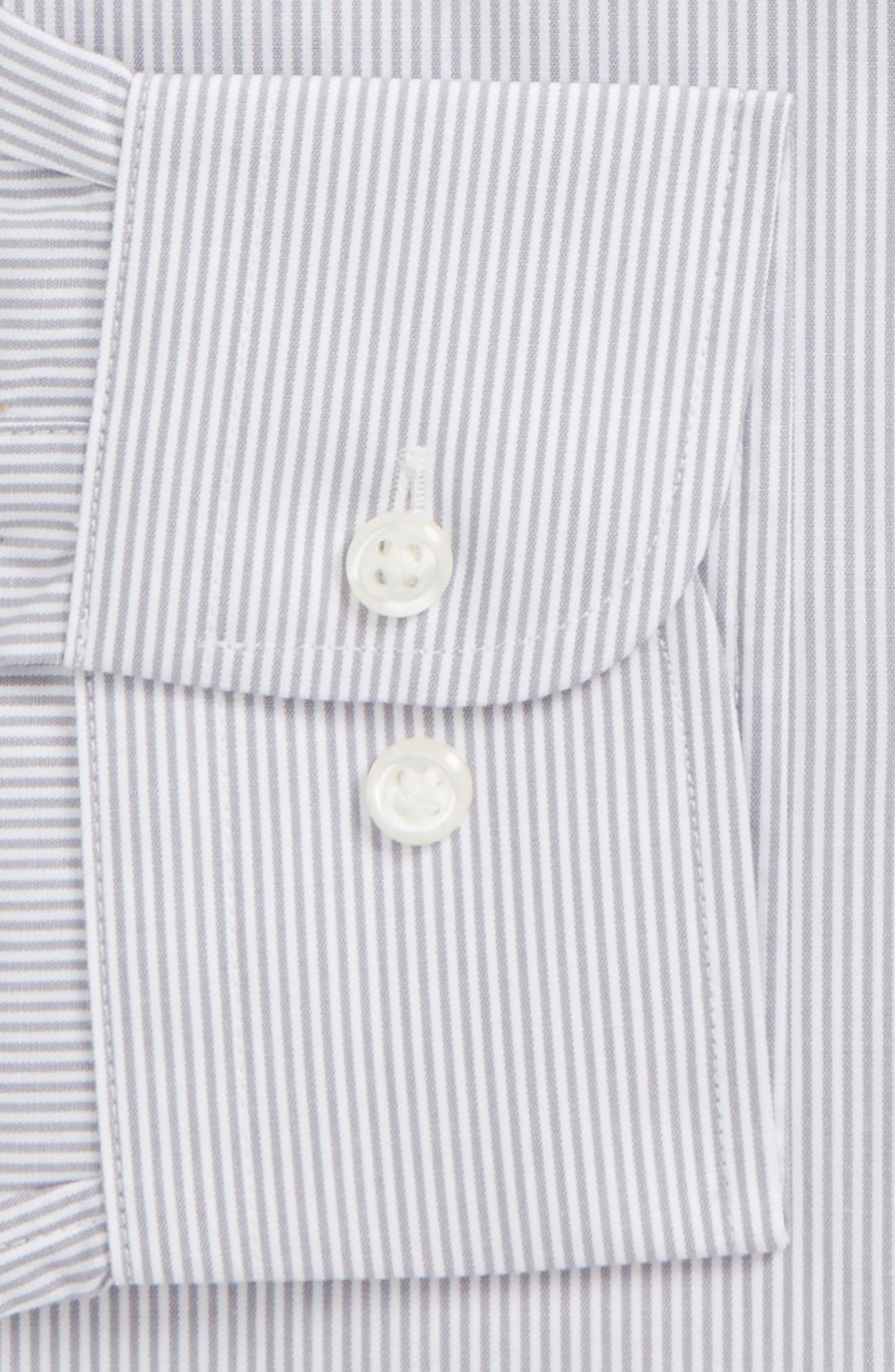 Smartcare<sup>™</sup> Traditional Fit Stripe Dress Shirt,                             Alternate thumbnail 6, color,                             051