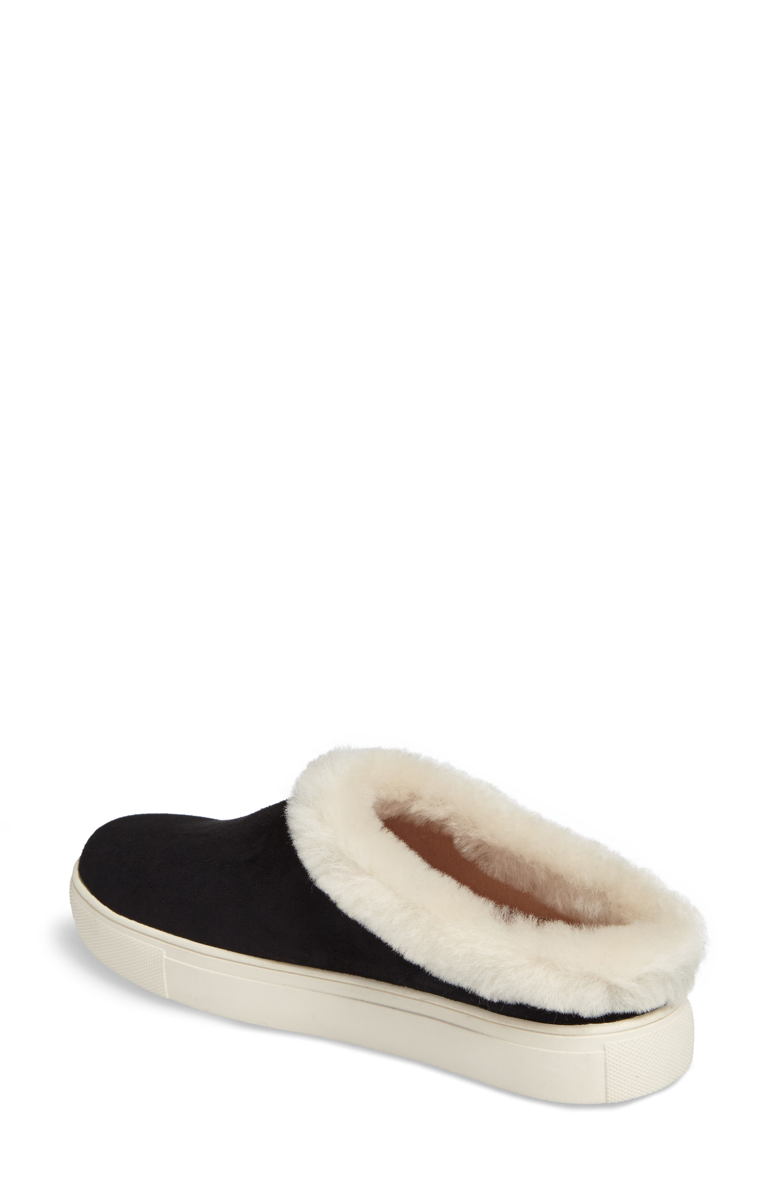 Leia Genuine Shearling Lined Slip-On,                             Alternate thumbnail 2, color,                             001