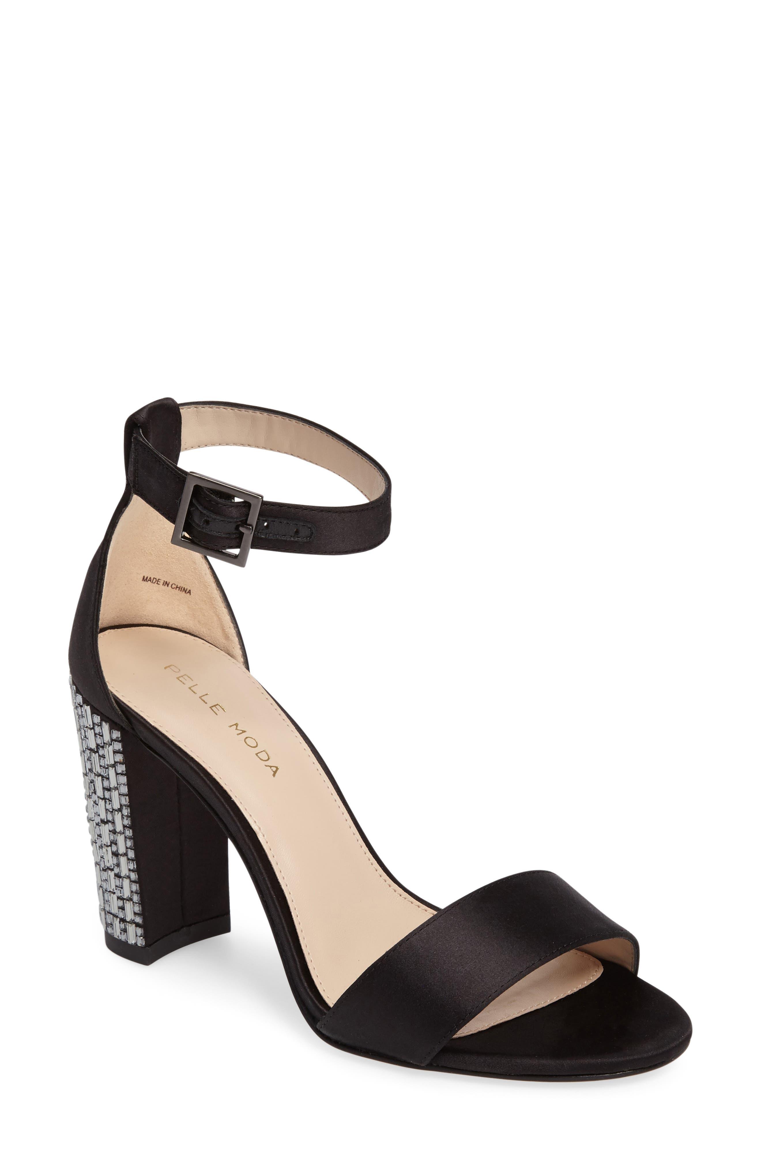 Bonnie 3 Embellished Ankle Strap Sandal,                         Main,                         color, 001