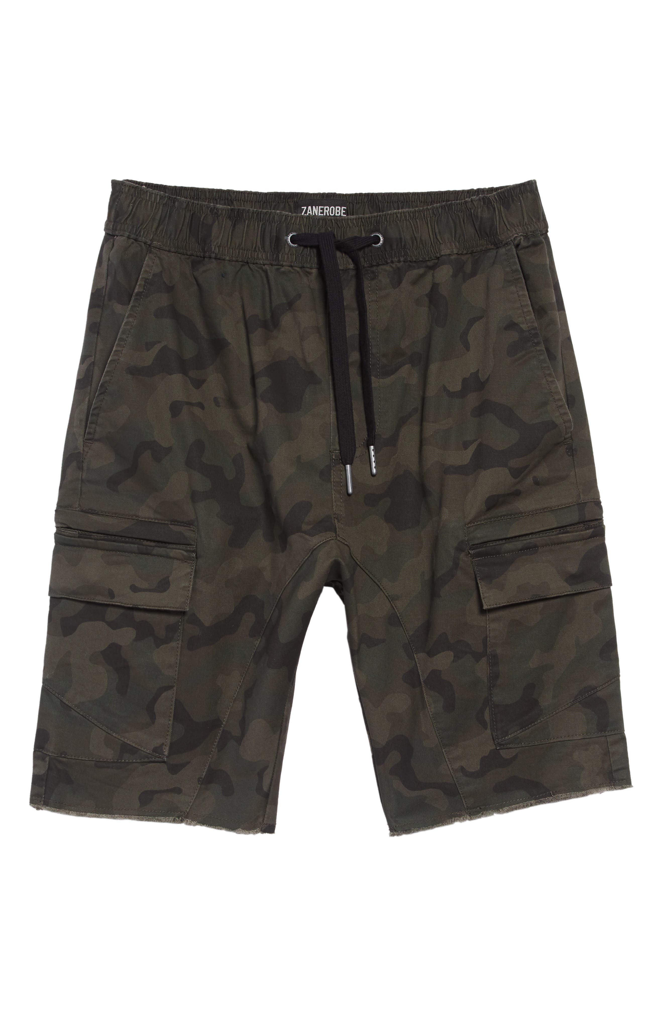 Sureshot Camo Cargo Shorts,                             Alternate thumbnail 4, color,                             302