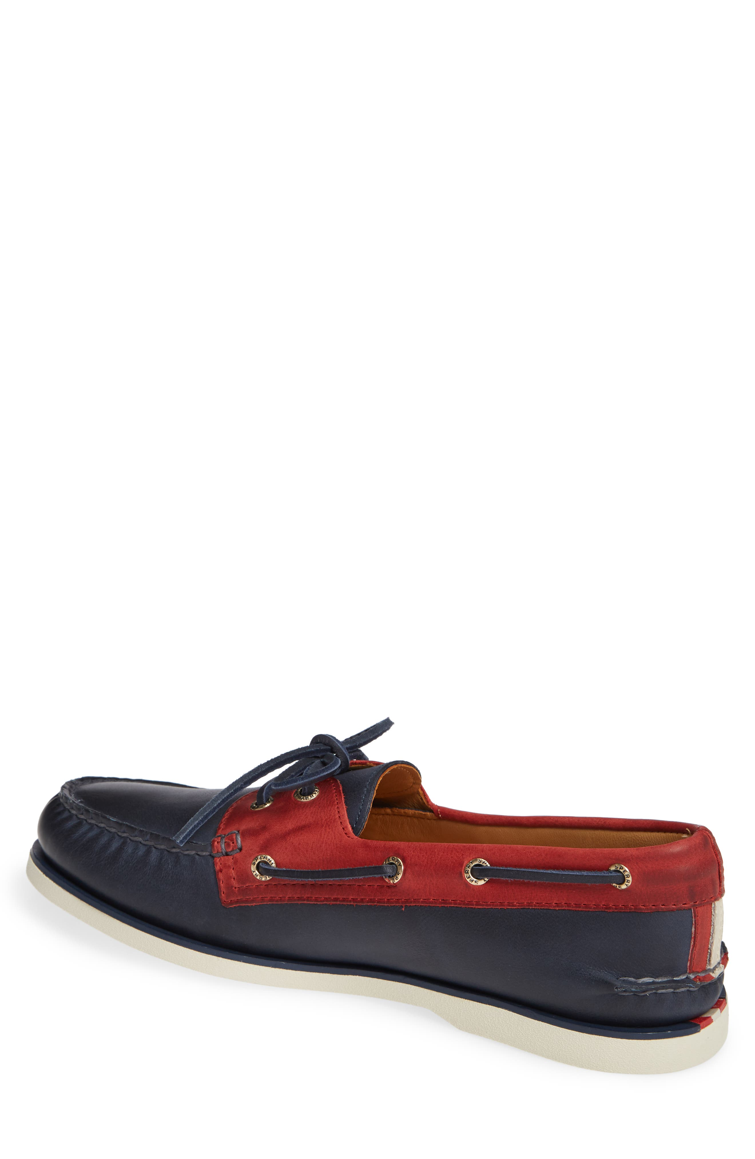 Gold Cup AO Boat Shoe,                             Alternate thumbnail 2, color,                             NAVY/ RED