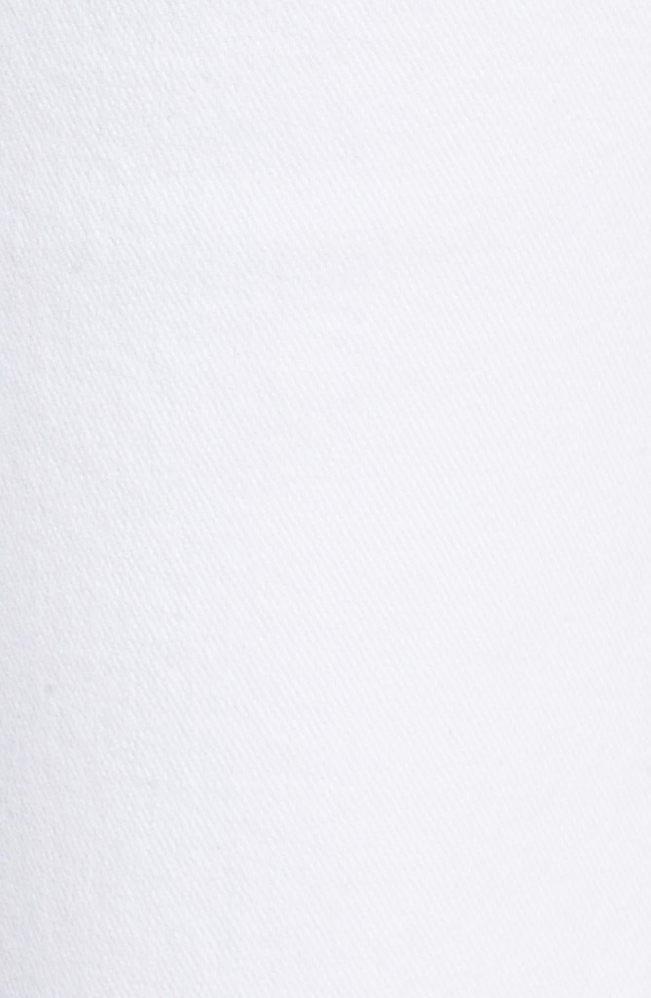 Verdugo Slanted Crop Skinny Jeans,                             Alternate thumbnail 6, color,                             CRISP WHITE