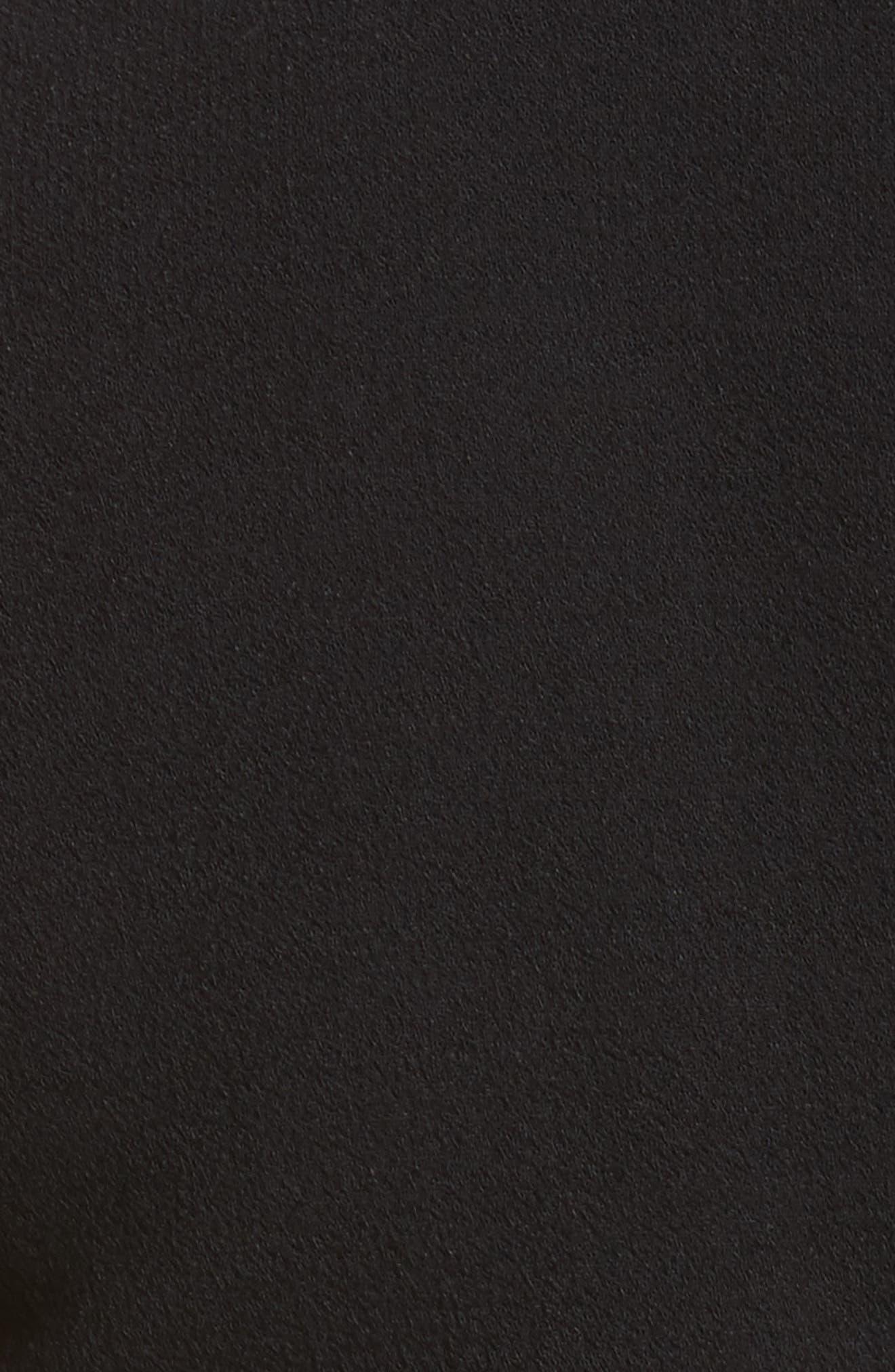 Sequined Stretch Bouclé Crepe Sheath,                             Alternate thumbnail 5, color,                             001