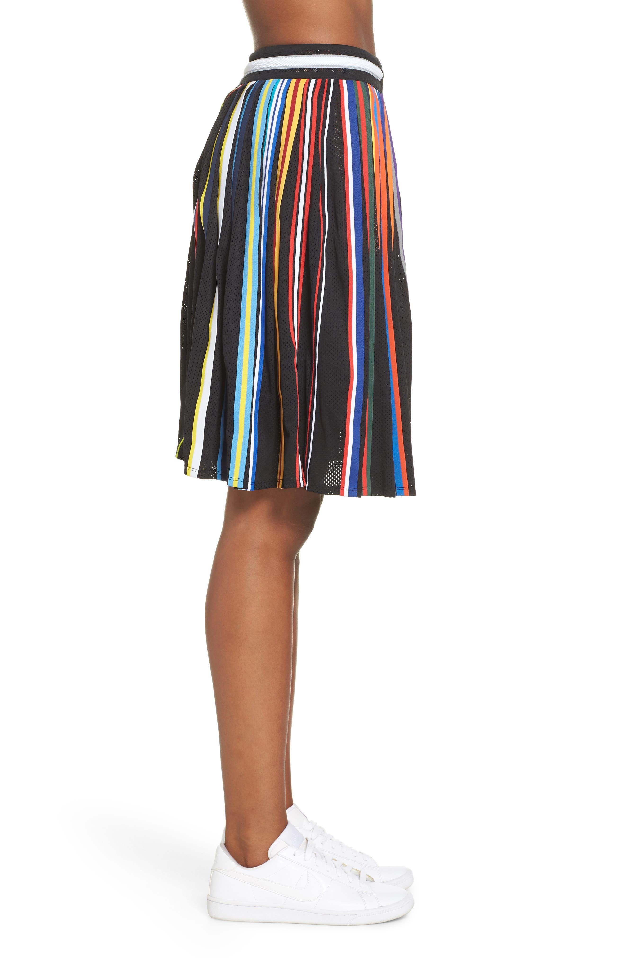 NikeLab Basketball Stripe Skirt,                             Alternate thumbnail 3, color,                             BLACK
