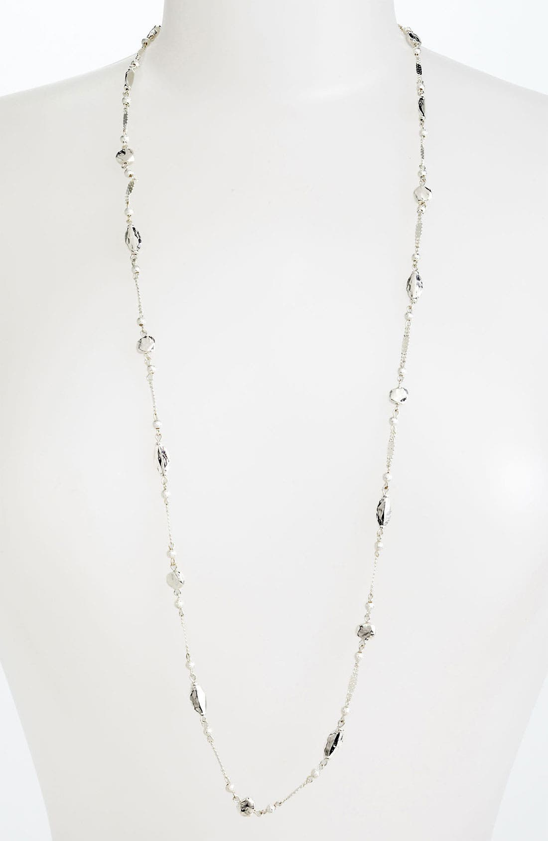NORDSTROM,                             'Sand Dollar' Long Station Necklace,                             Main thumbnail 1, color,                             040