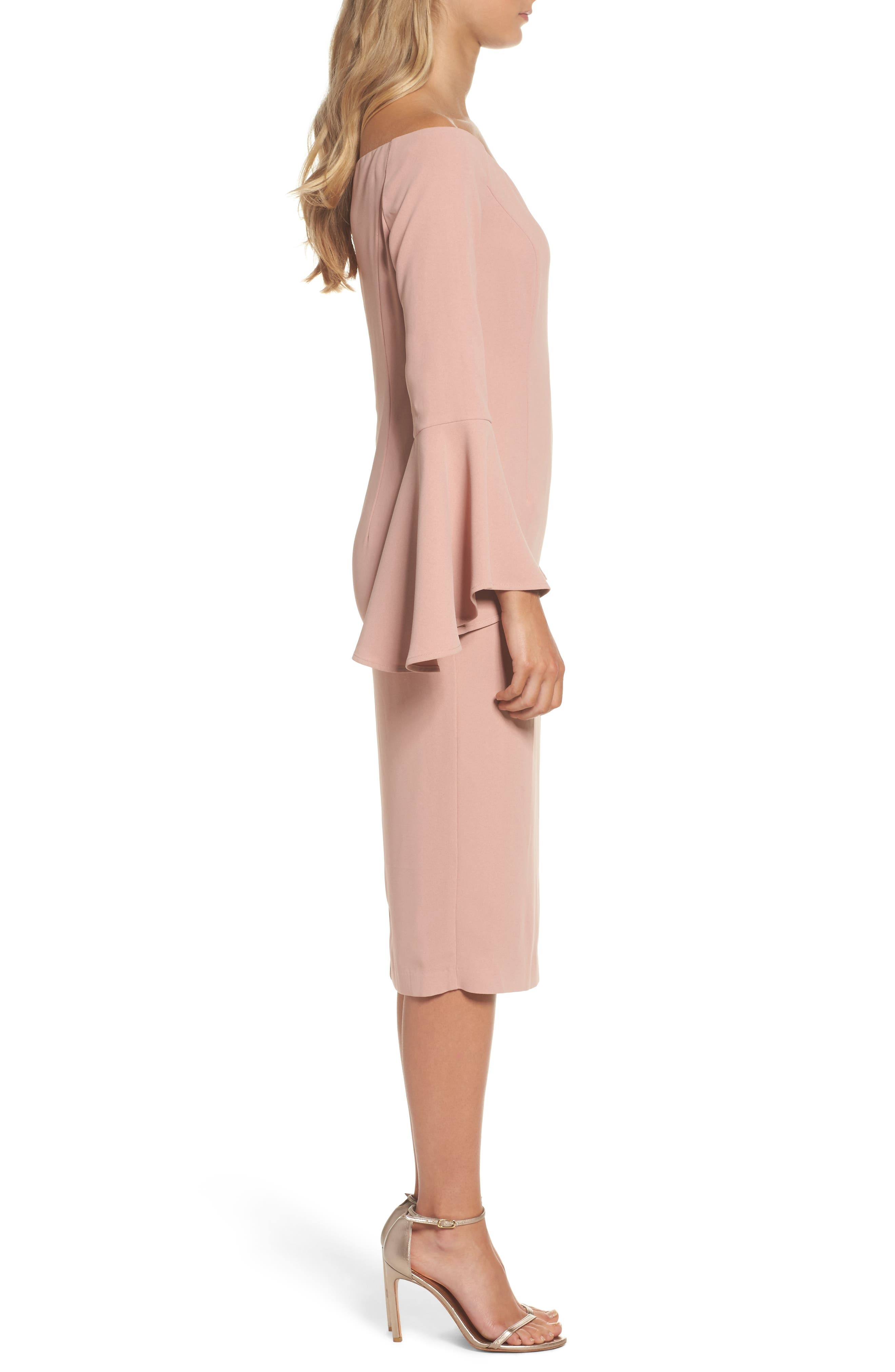 'Solange' Off the Shoulder Midi Dress,                             Alternate thumbnail 13, color,