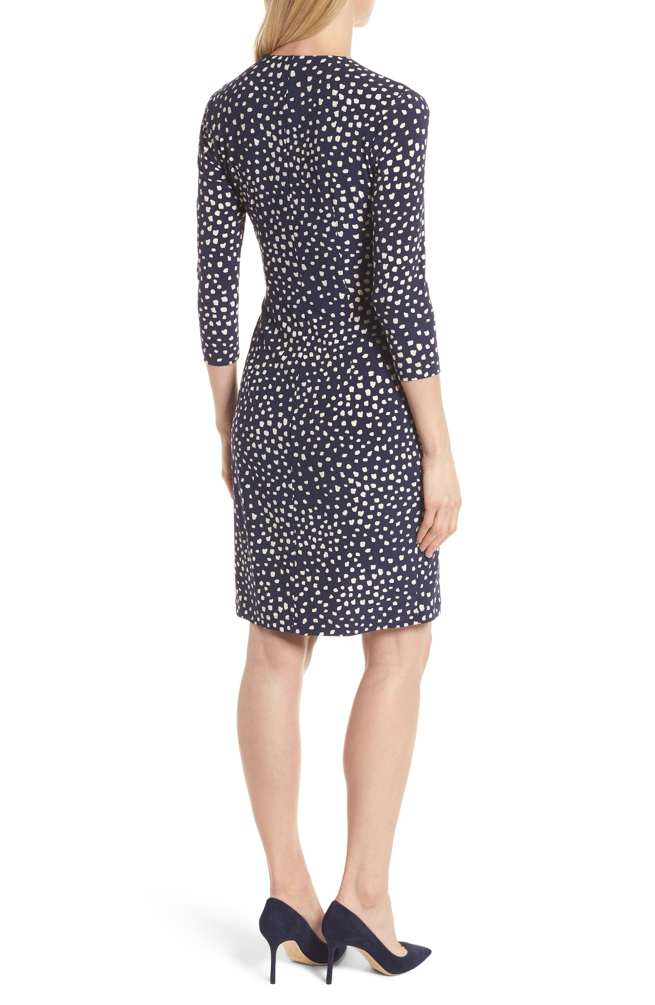 Ceylon Wrap Front Print Dress,                             Alternate thumbnail 2, color,