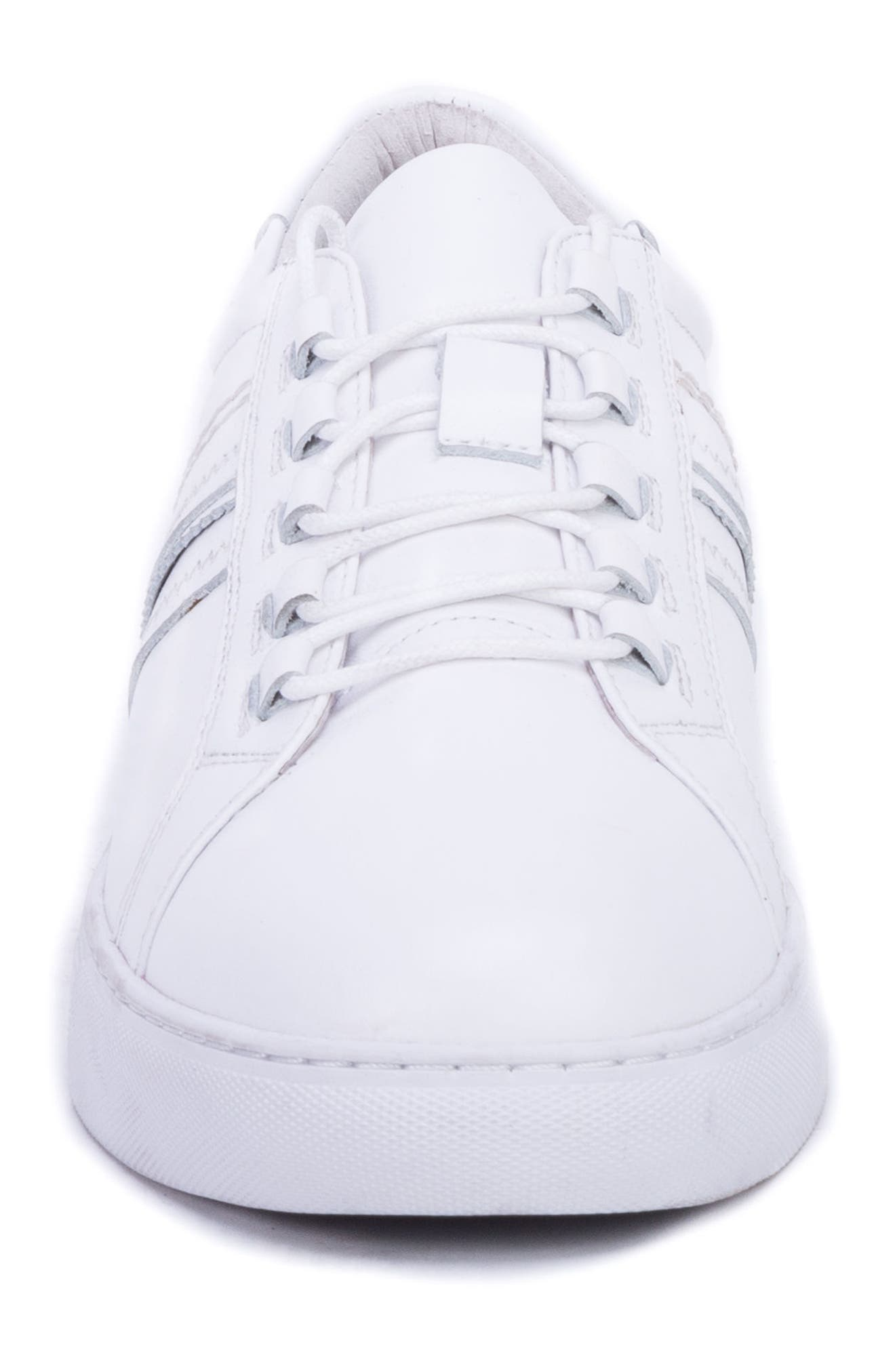 Horton Studded Low Top Sneaker,                             Alternate thumbnail 4, color,                             WHITE LEATHER
