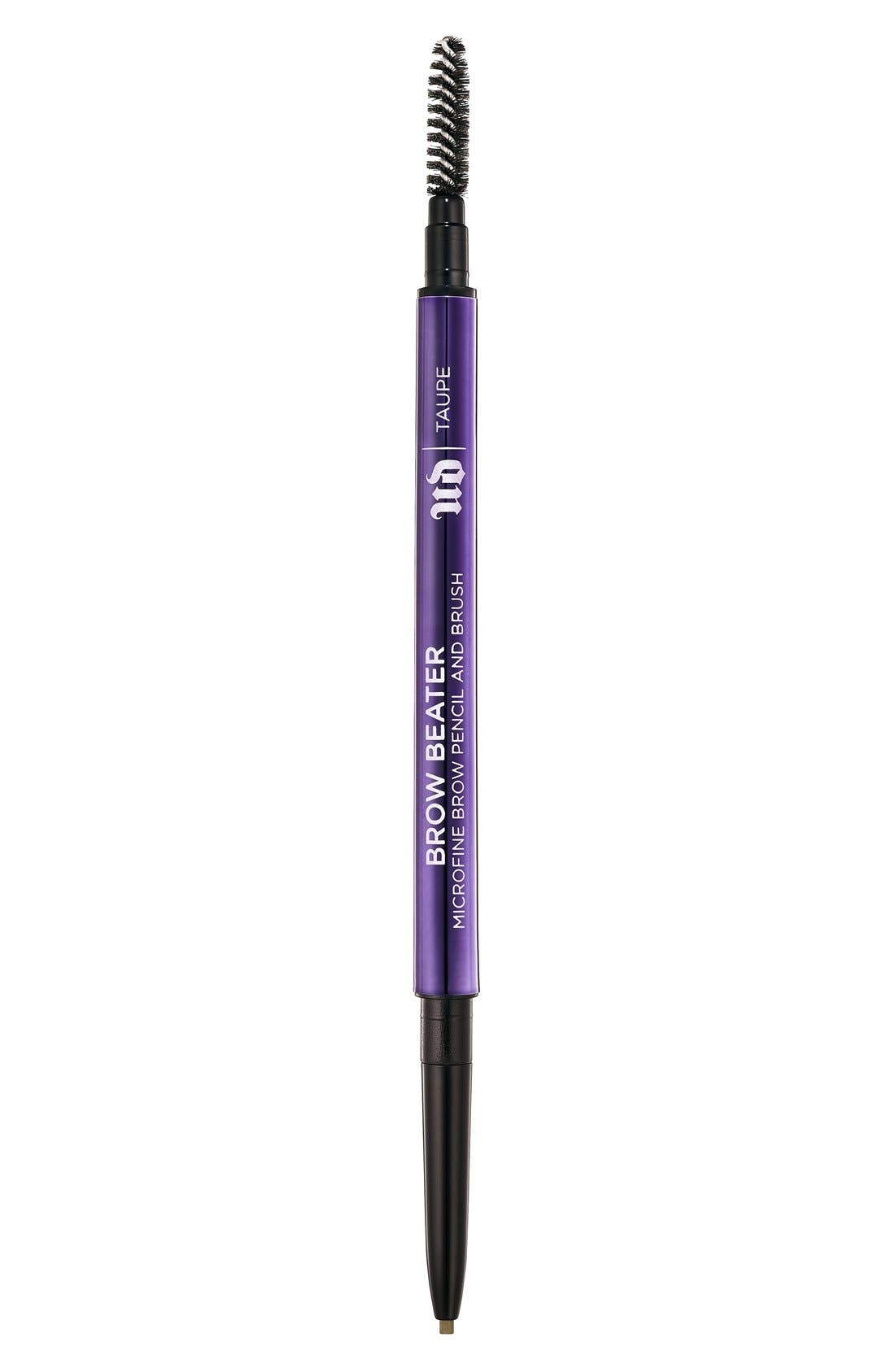 Brow Beater Microfine Brow Pencil & Brush,                             Main thumbnail 1, color,                             TAUPE