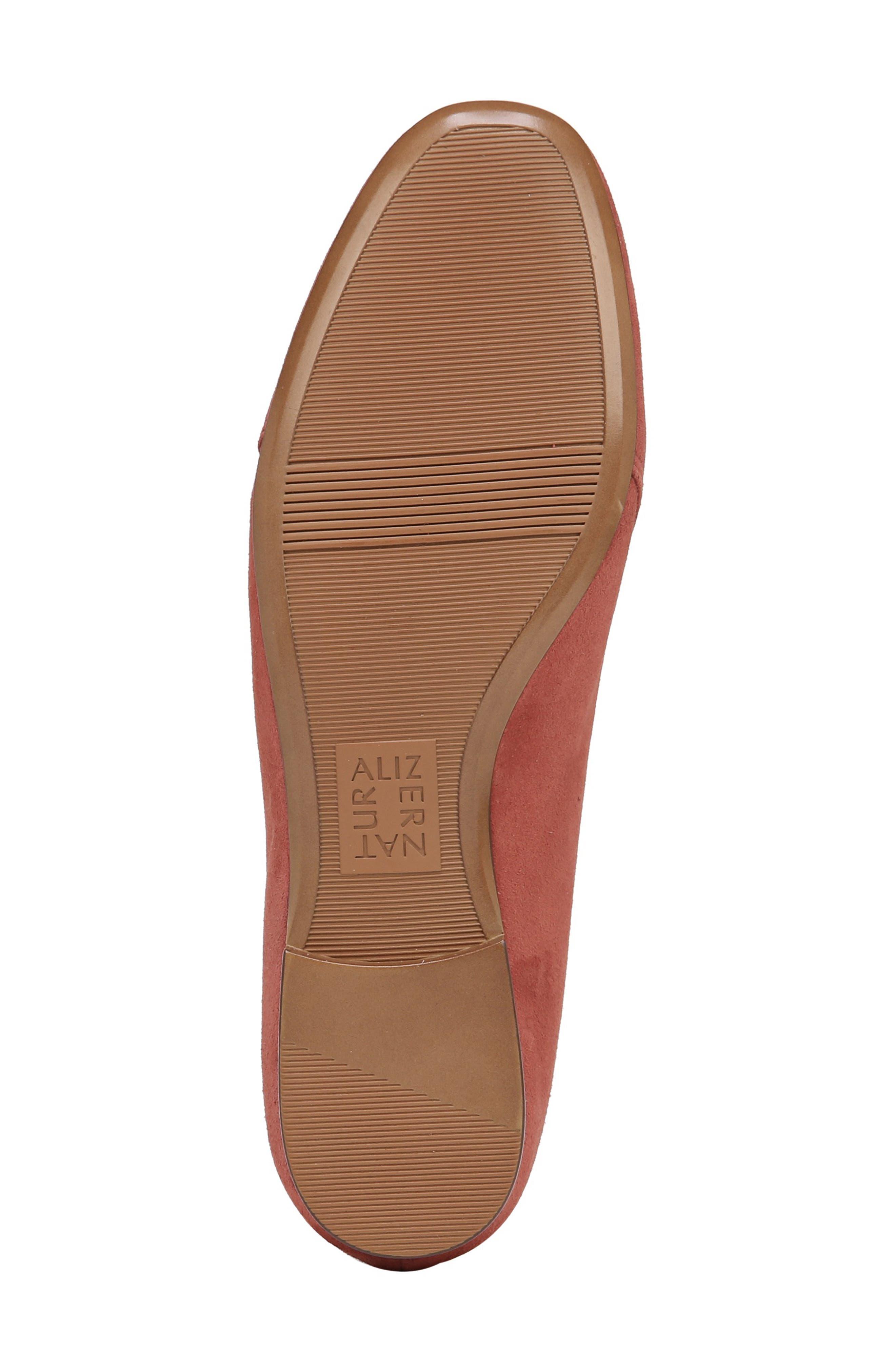 Emiline Flat Loafer,                             Alternate thumbnail 6, color,                             DESERT CLAY SUEDE