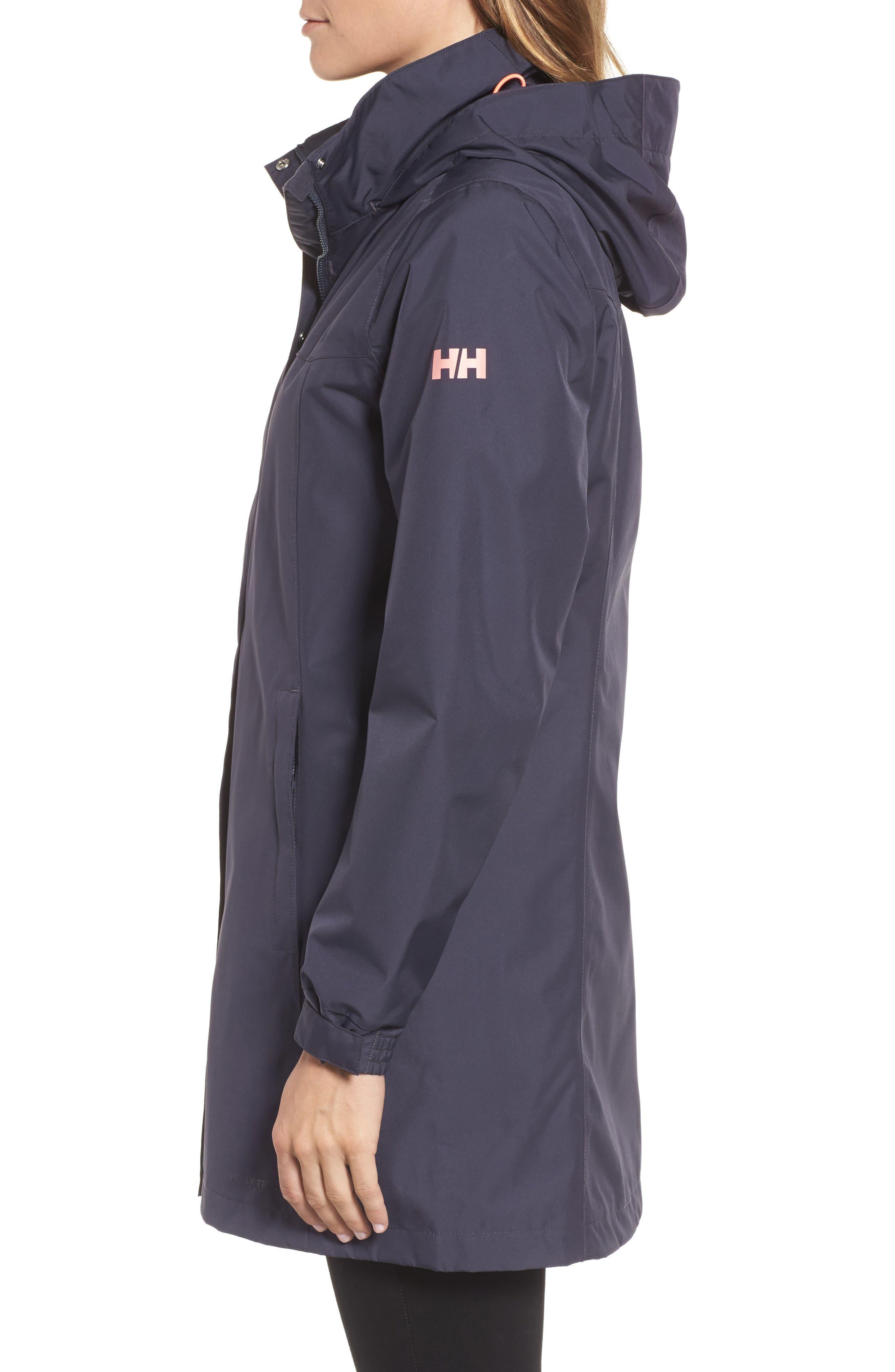 'Aden' Helly Tech<sup>®</sup> Raincoat,                             Alternate thumbnail 3, color,                             409