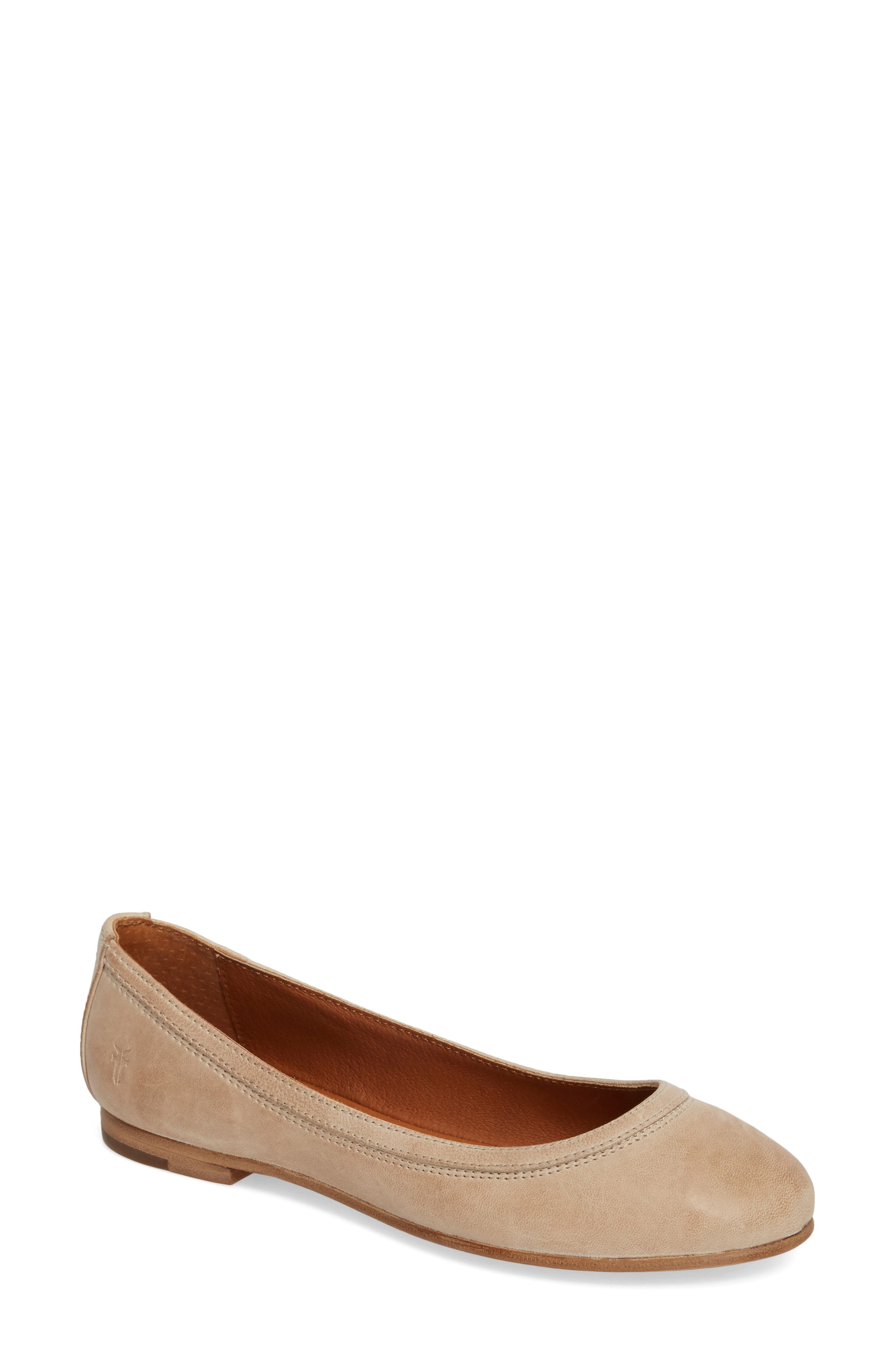 'Carson' Ballet Flat,                             Alternate thumbnail 2, color,                             CREAM LEATHER