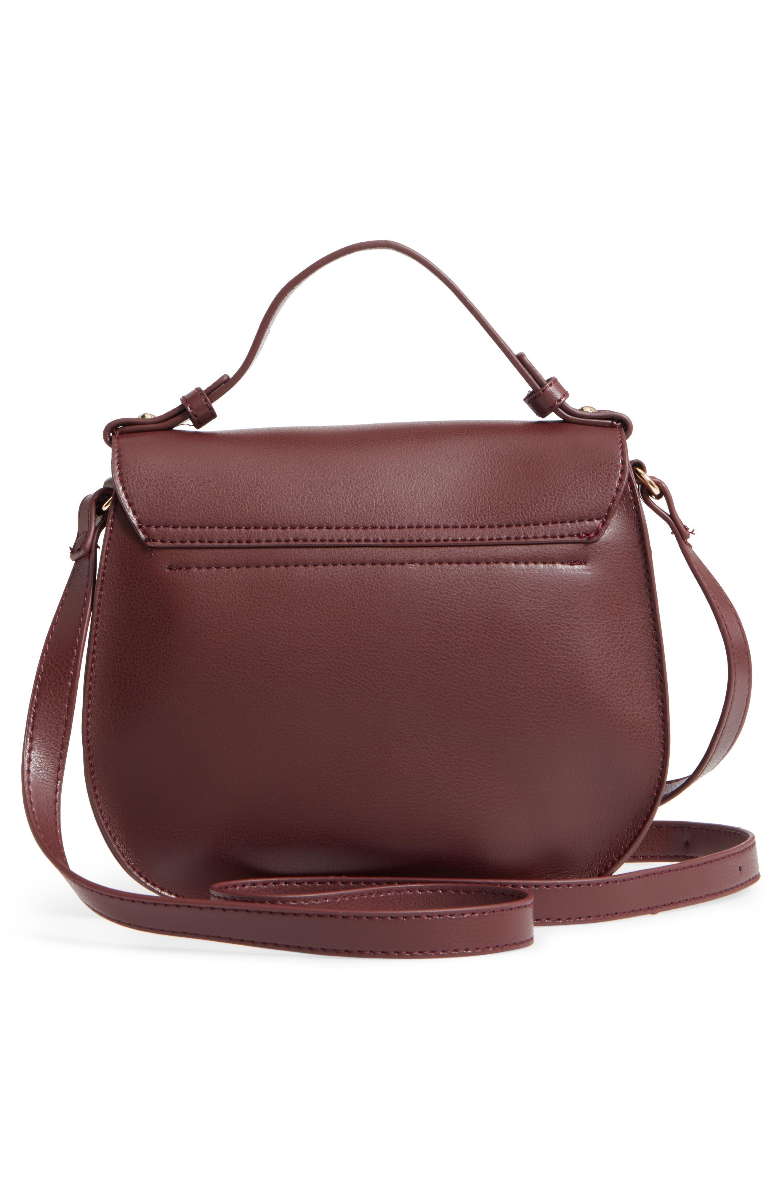 Faux Leather Crossbody Bag,                             Alternate thumbnail 6, color,