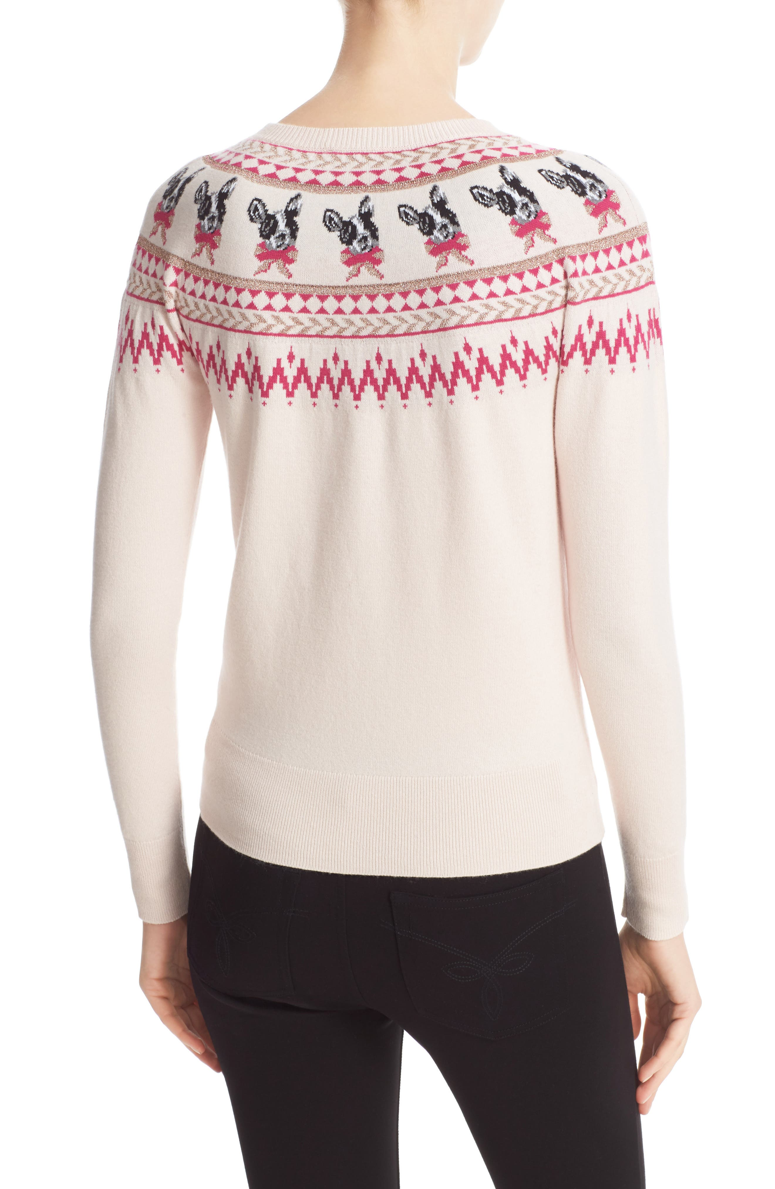TED BAKER LONDON,                             Merry Woofmas Fair Isle Pullover,                             Alternate thumbnail 2, color,                             272