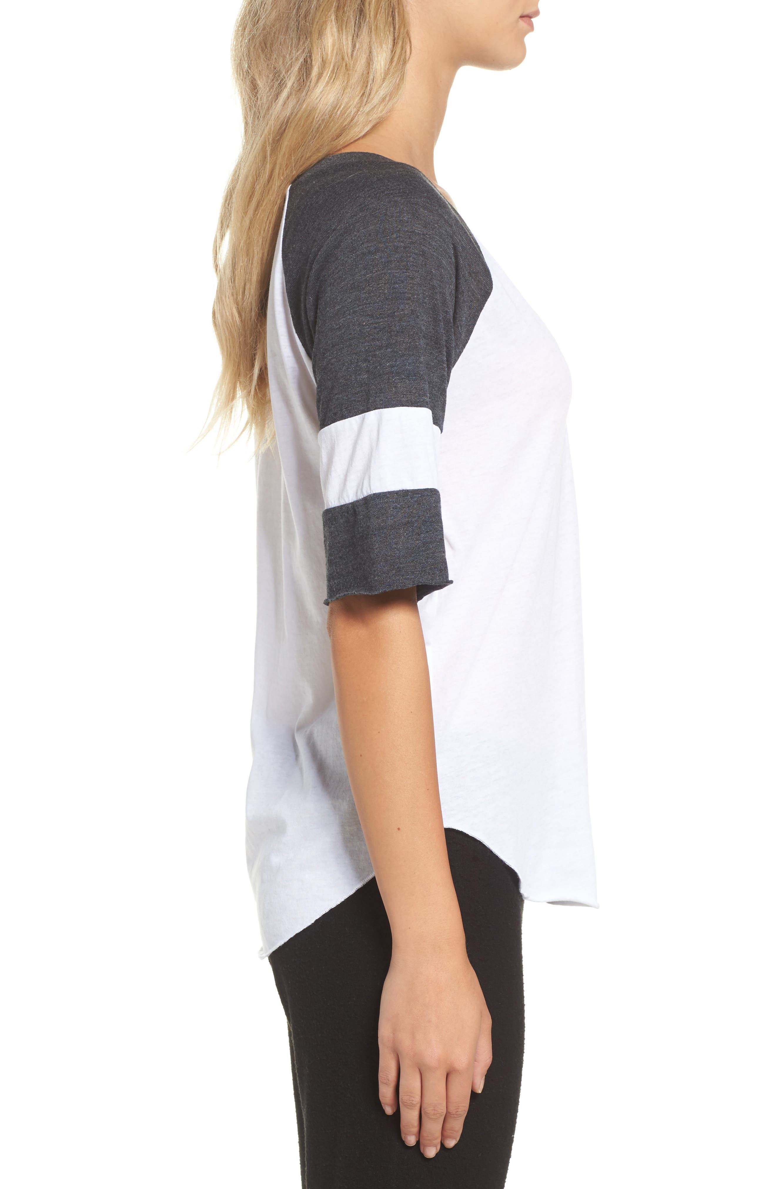 Colorblock Jersey Tee,                             Alternate thumbnail 3, color,                             100