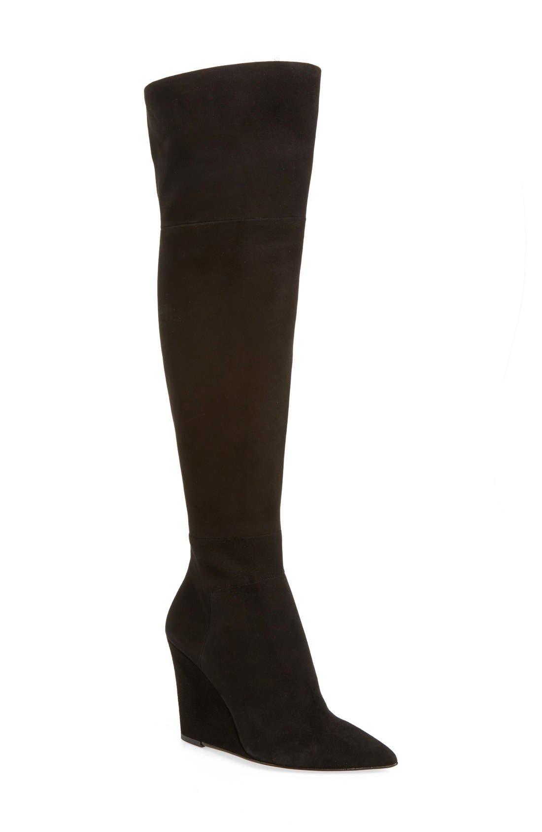 POUR LA VICTOIRE,                             'Serra' Over the Knee Boot,                             Main thumbnail 1, color,                             002